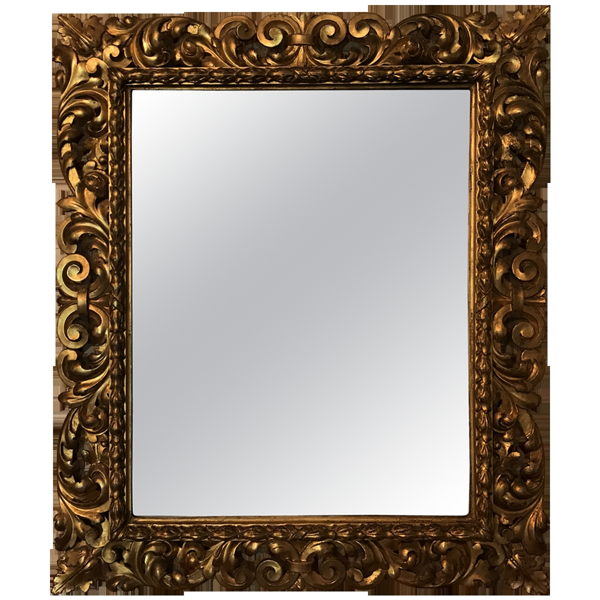 Viyet Designer Furniture Accessories Vintage Ornate Gilt Mirror In Ornate Gilt Mirrors (Image 15 of 15)