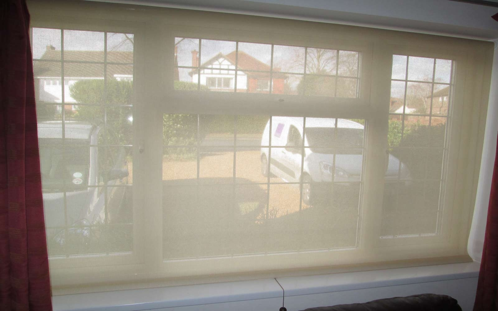 Voile Roller Blind Surrey Blinds Shutters Intended For Voile Roman Blinds (Image 12 of 15)