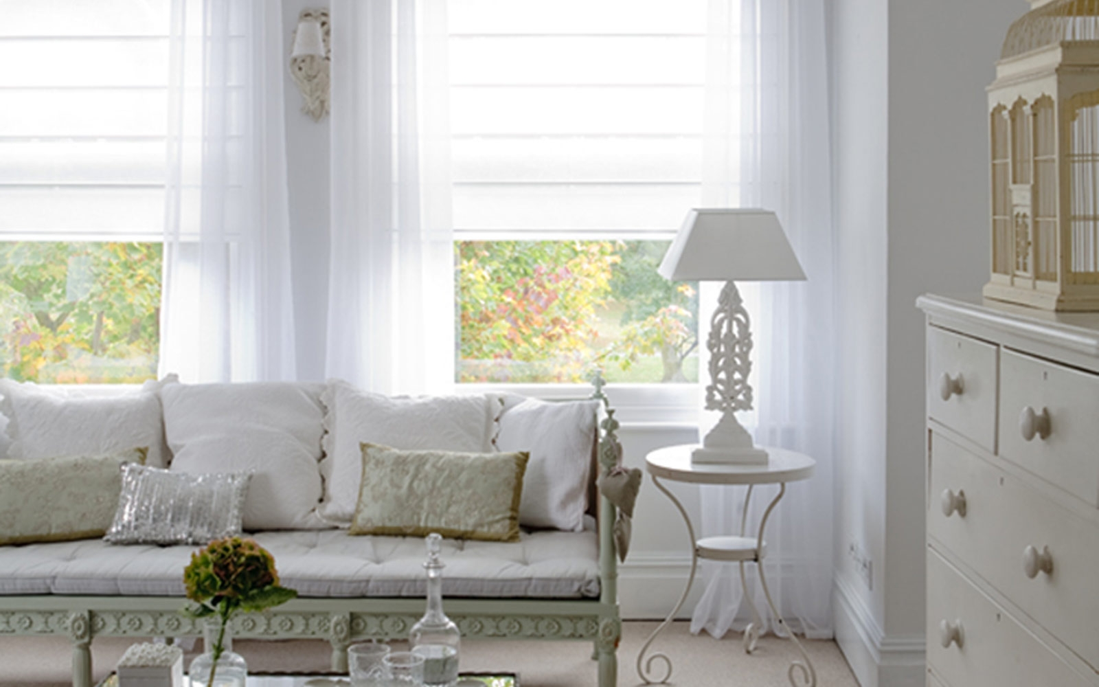 Voile Surrey Blinds Shutters Intended For Voile Roman Blinds (Image 14 of 15)