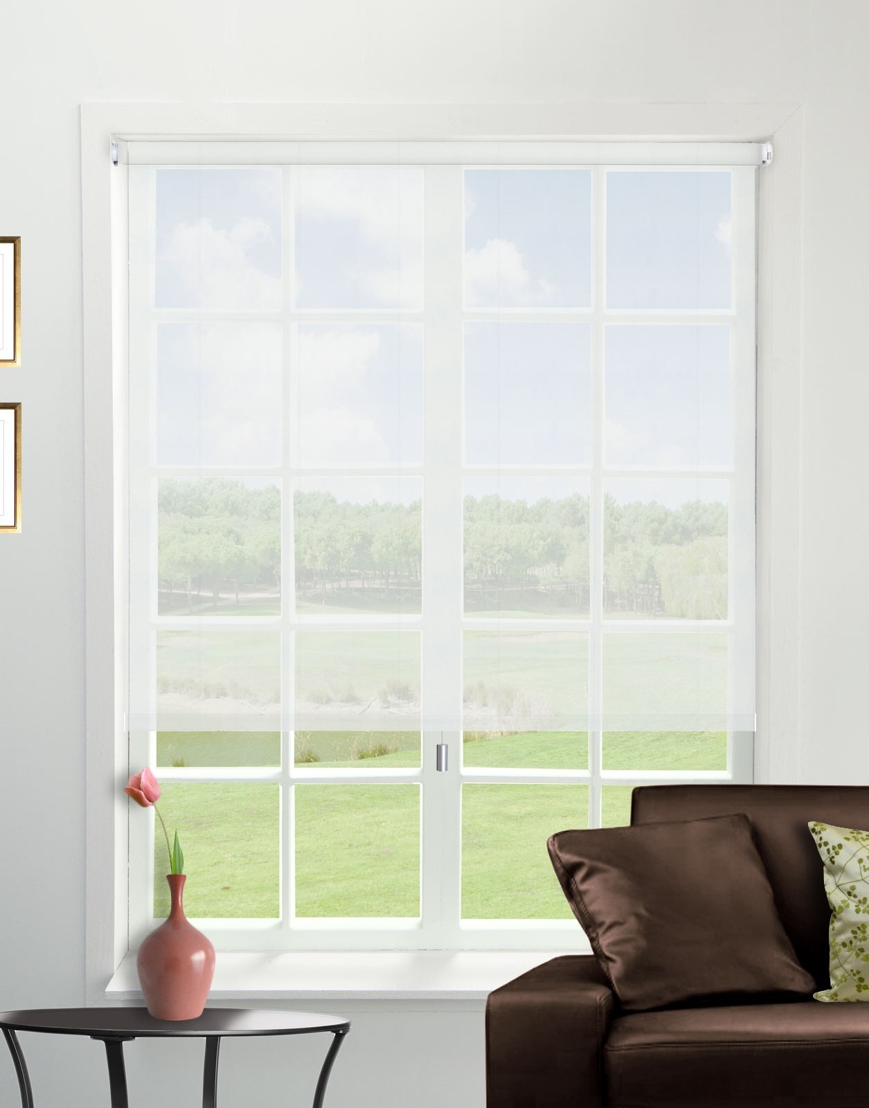 Voile White Roller Blind Direct Order Blinds Uk Intended For Sheer Roller Blinds (Image 14 of 15)
