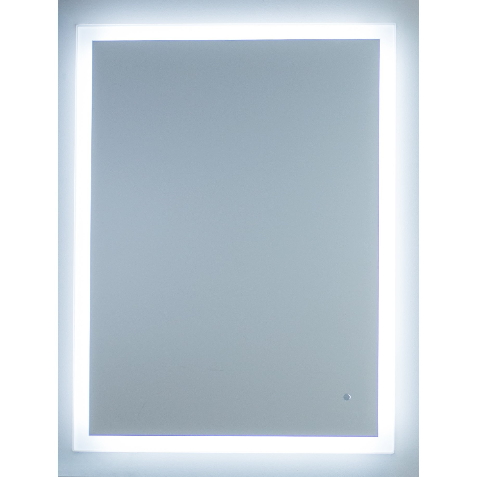 Wade Logan Aluminum Frame Electric Mirror Reviews Wayfair Inside Mirror With Blue Frame (View 7 of 15)