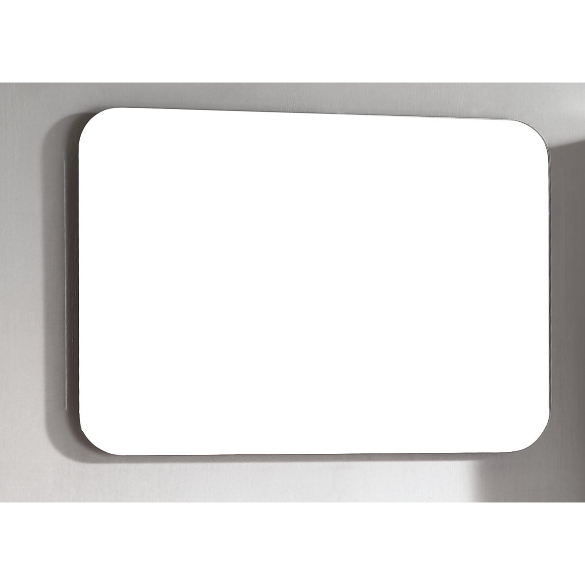 Wade Logan Brizendine Frameless Mirror Reviews Wayfair In Square Frameless Mirror (Image 14 of 15)