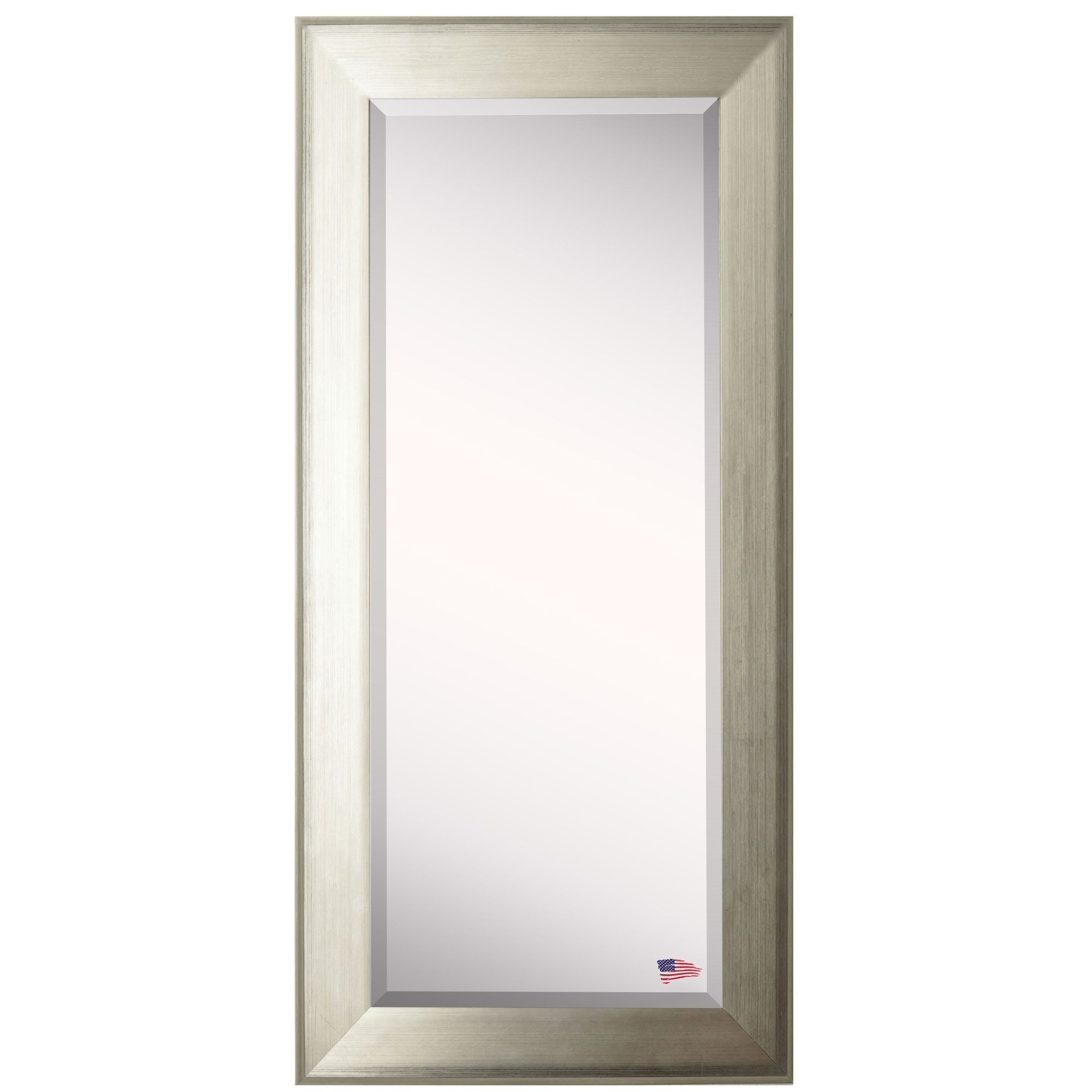 Wade Logan Brushed Silver Tone Full Length Beveled Body Mirror Within Full Length Silver Mirror (Image 15 of 15)
