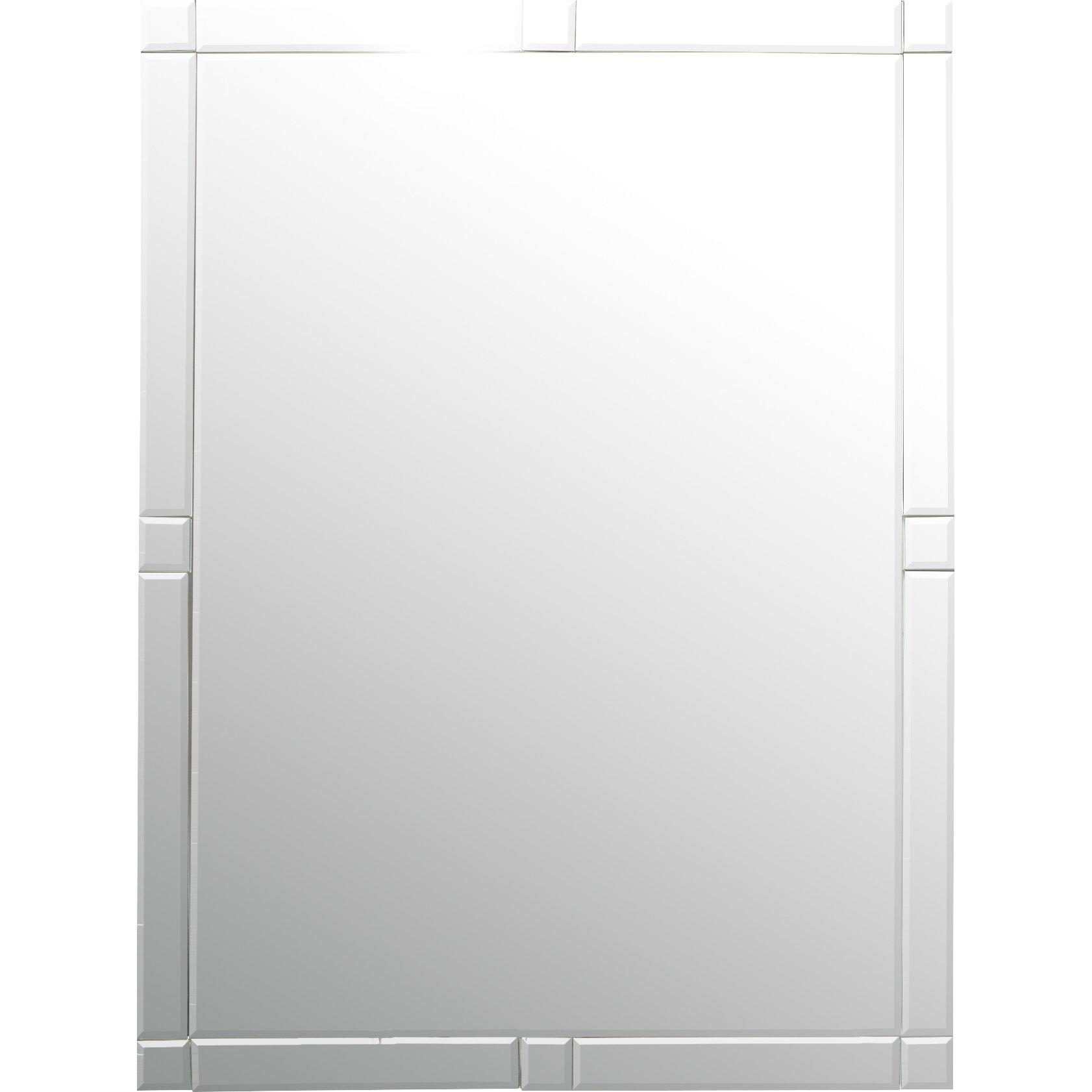 Wade Logan Frameless Wall Mirror Reviews Wayfair For Frameless Wall Mirror (Image 8 of 15)