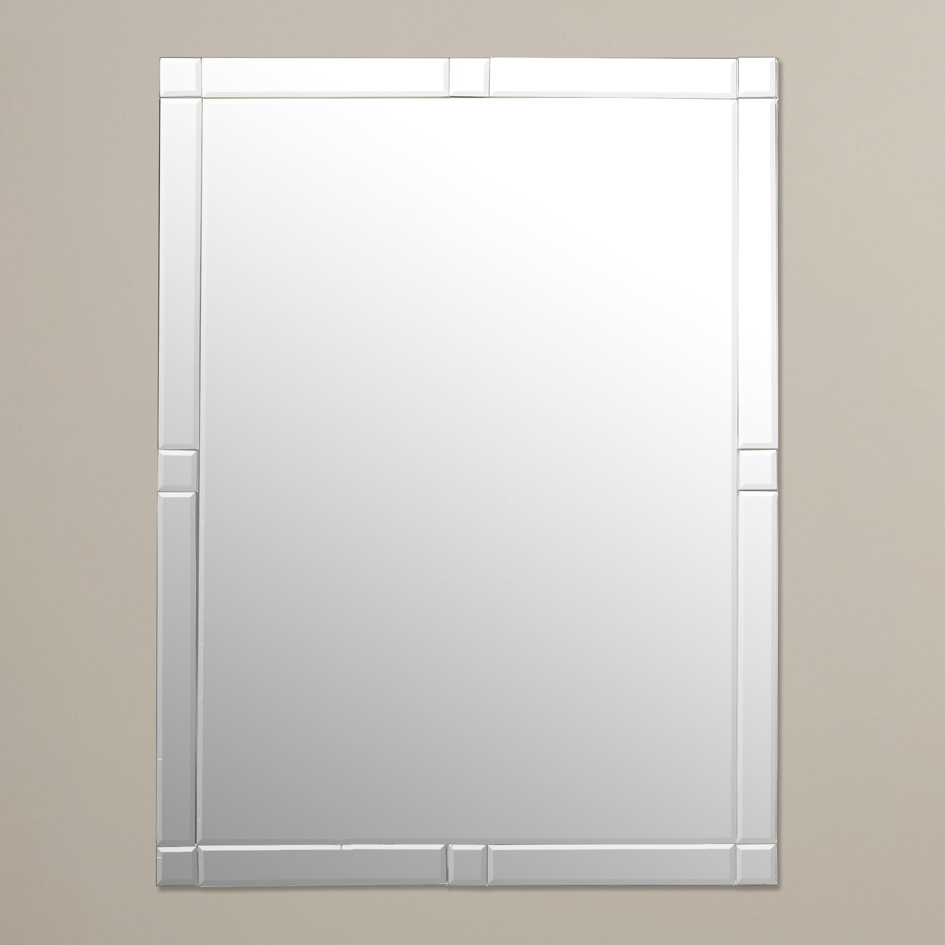 Wade Logan Frameless Wall Mirror Reviews Wayfair Within Frameless Wall Mirror (Image 10 of 15)