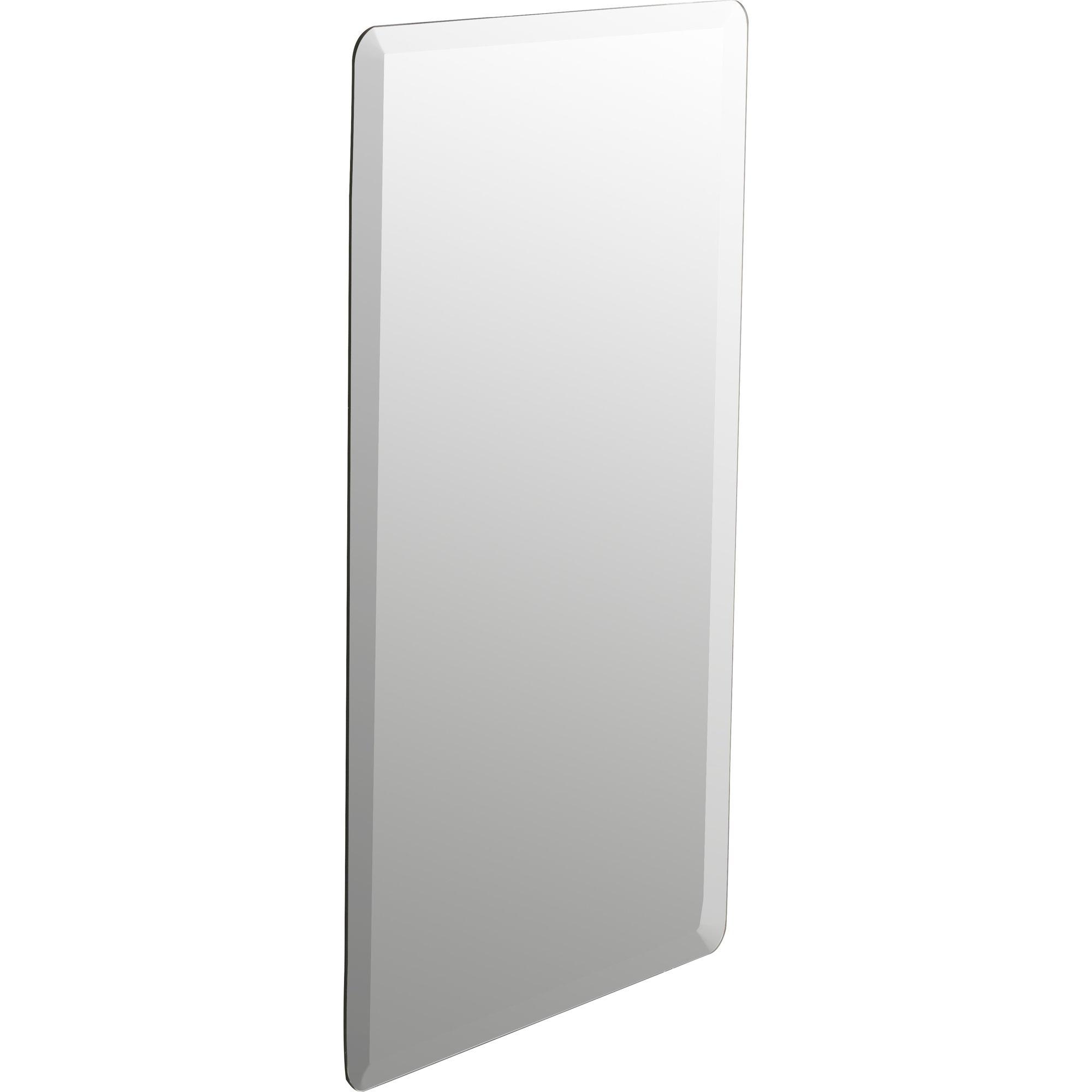 Wade Logan Kayden Frameless Wall Mirror Reviews Wayfair Regarding Frameless Wall Mirror (Image 11 of 15)