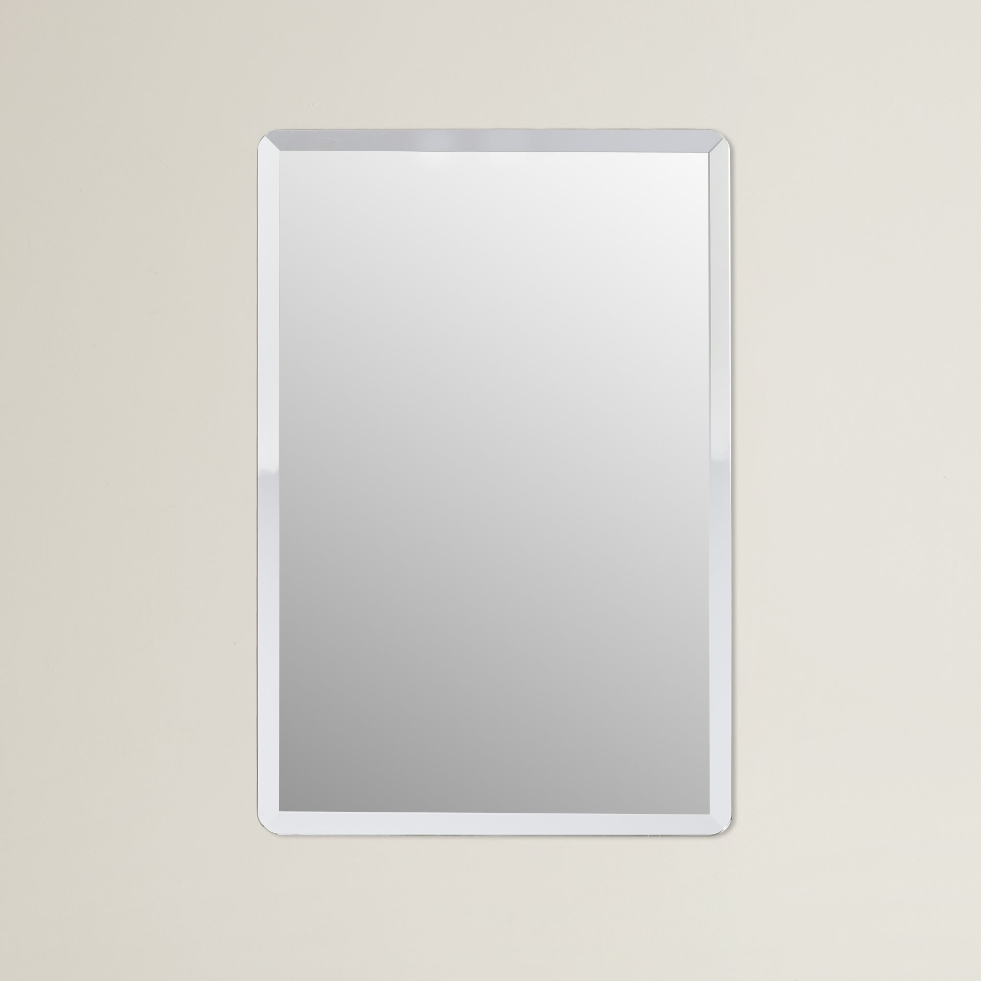Wade Logan Kayden Frameless Wall Mirror Reviews Wayfair Throughout Frameless Wall Mirror (Image 12 of 15)