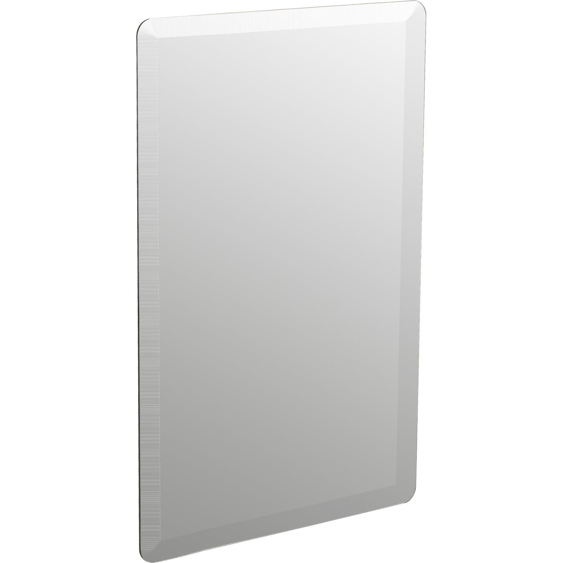 Wade Logan Kayden Frameless Wall Mirror Reviews Wayfair With Regard To Frameless Wall Mirror (Image 14 of 15)