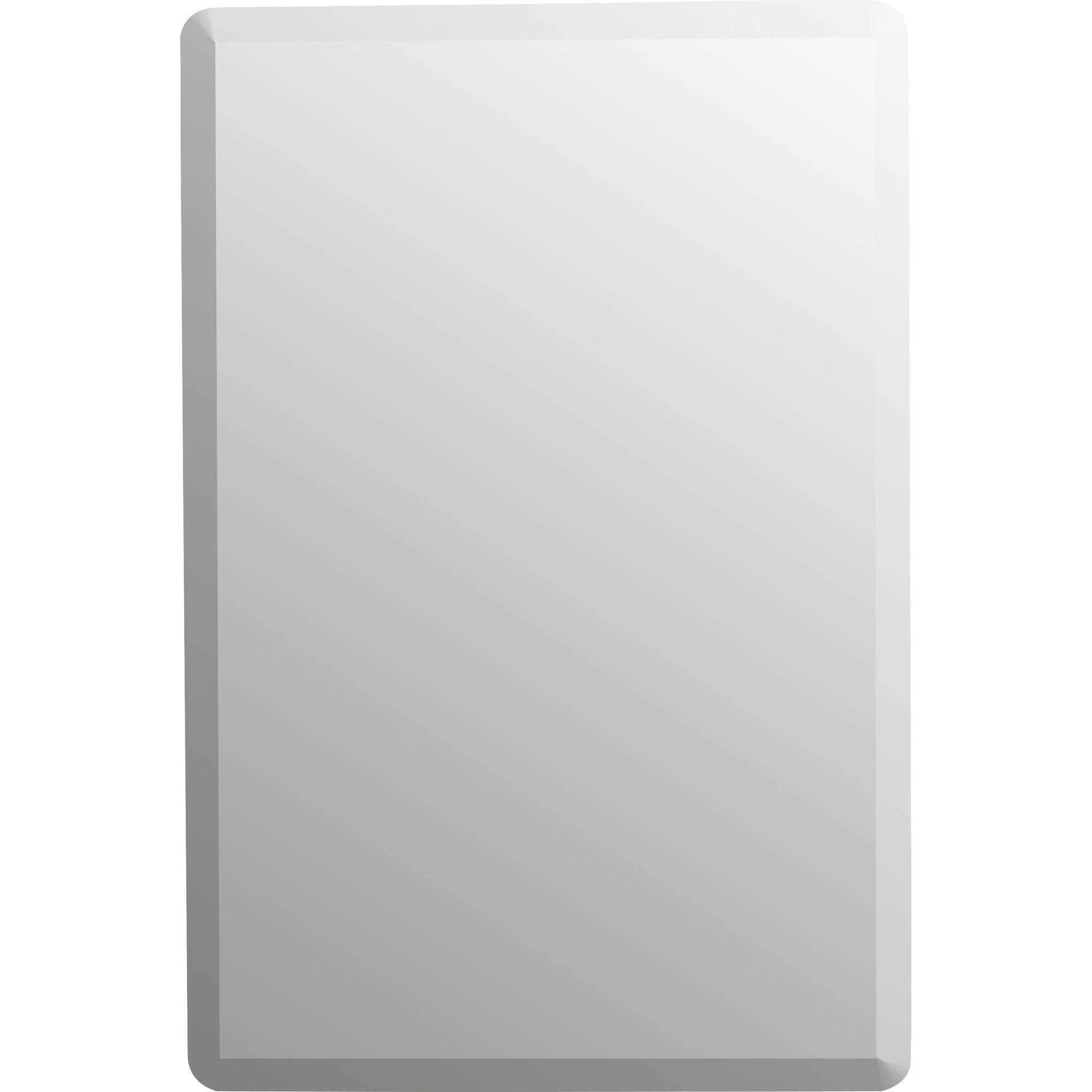Wade Logan Kayden Frameless Wall Mirror Reviews Wayfair With Regard To Frameless Wall Mirror (Image 13 of 15)