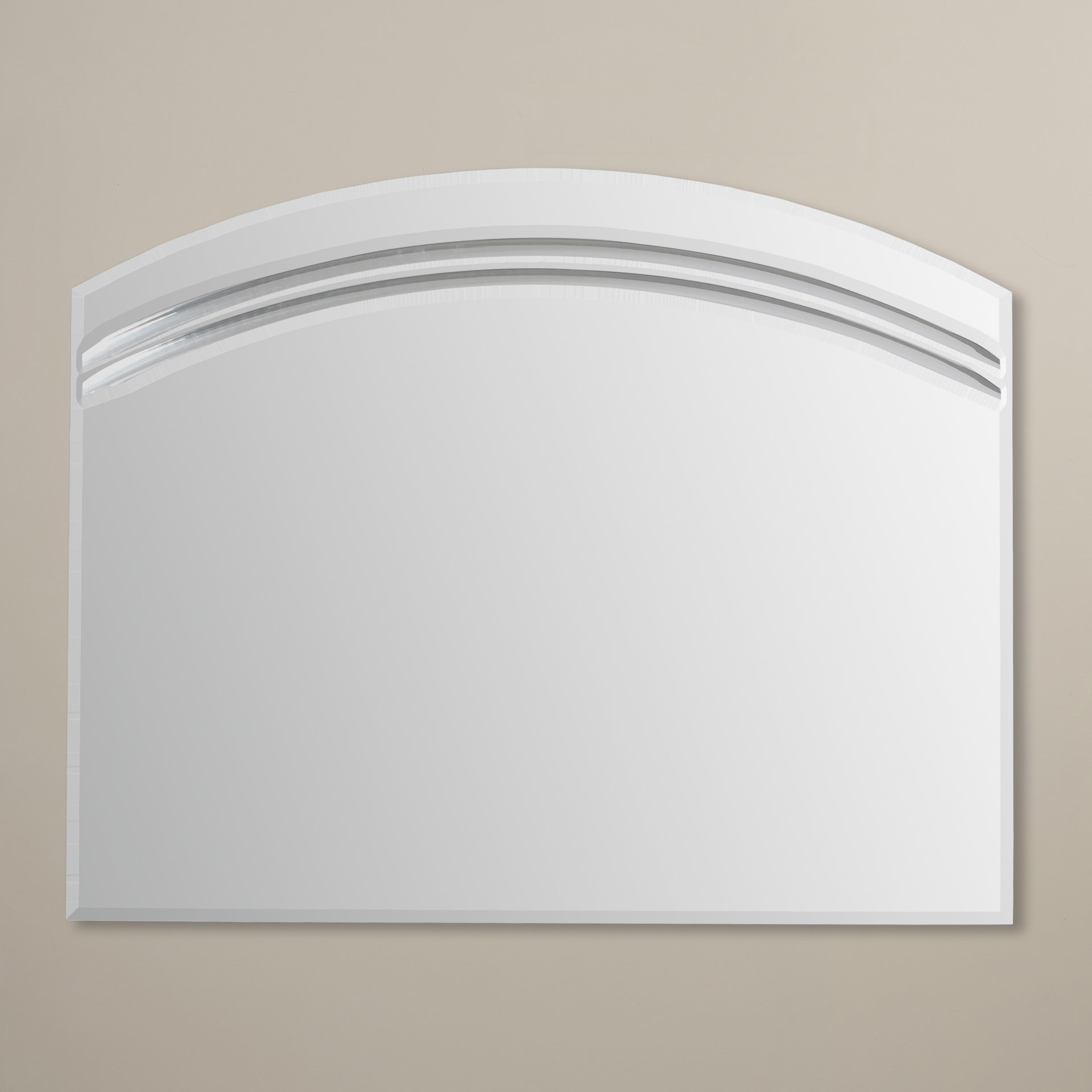 Wade Logan Large Frameless Wall Mirror Reviews Wayfair In Large Frameless Mirrors (Image 14 of 15)
