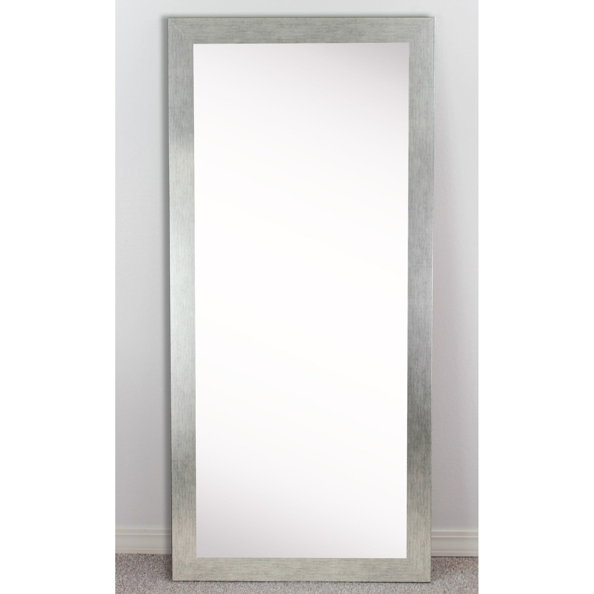 Wade Logan Rectangle Silver Framed Wall Mirror Reviews Wayfair With Rectangular Silver Mirror (View 5 of 15)