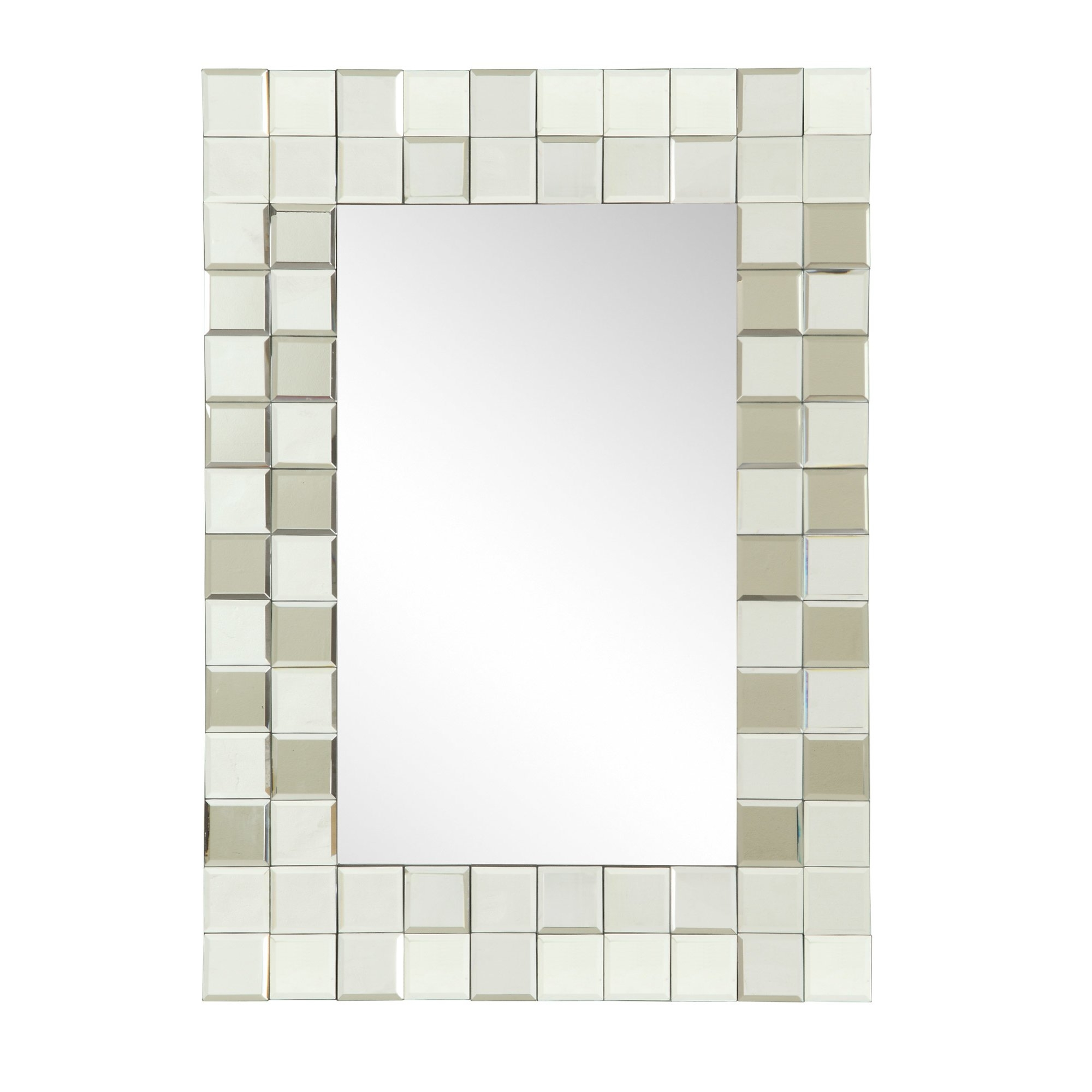 Wade Logan Rectangular Silver Mirror Reviews Wayfair Within Silver Rectangular Mirror (Image 15 of 15)