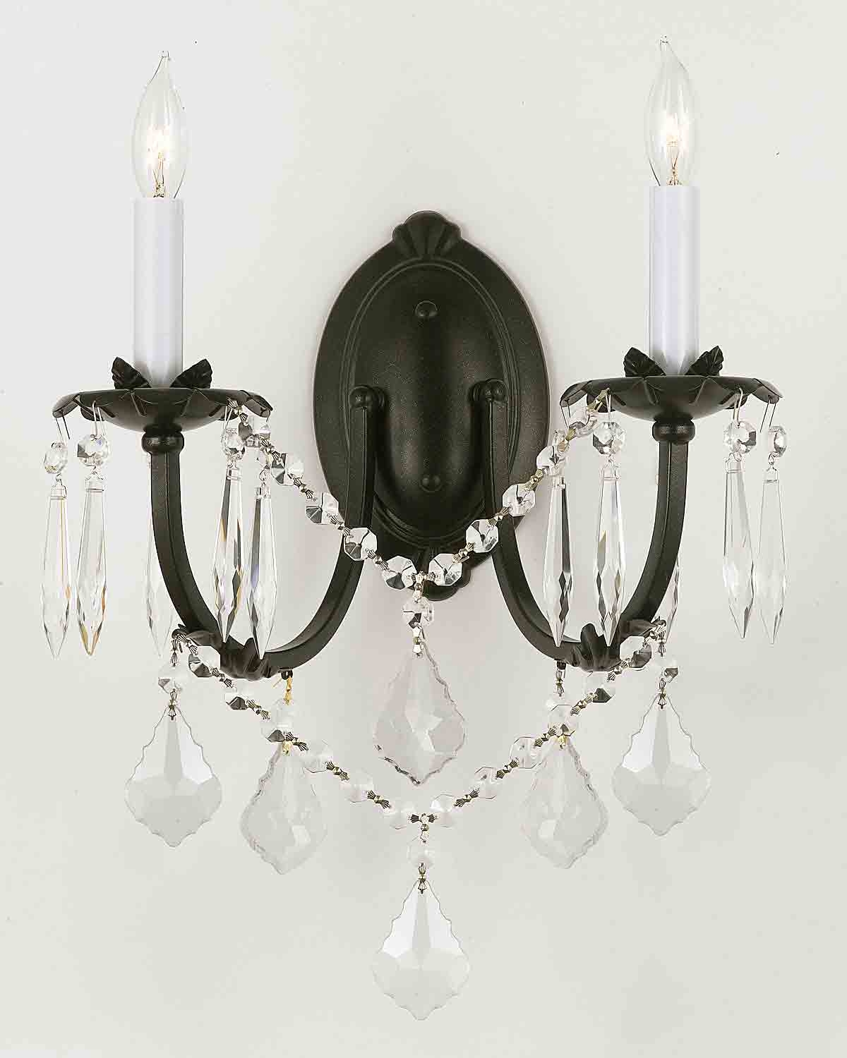 Wall Chandelier Crystal Wall Scones Wall Lighting Fixtures Inside Chandelier Wall Lights (Image 11 of 15)