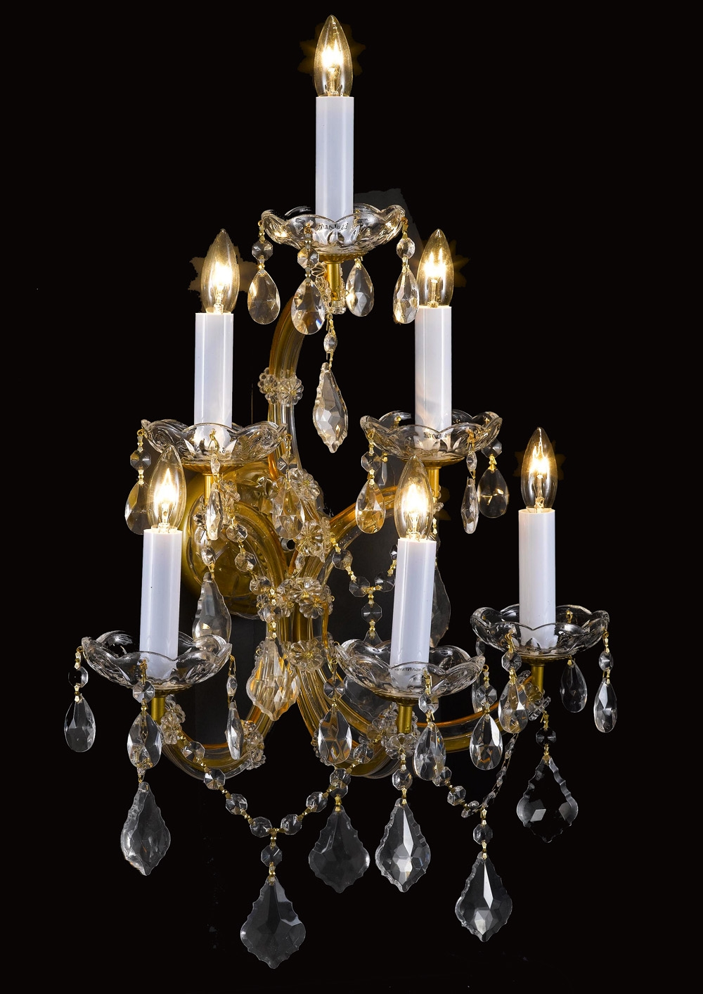 Wall Chandelier Crystal Wall Scones Wall Lighting Fixtures With Regard To Chandelier Wall Lights (Image 12 of 15)