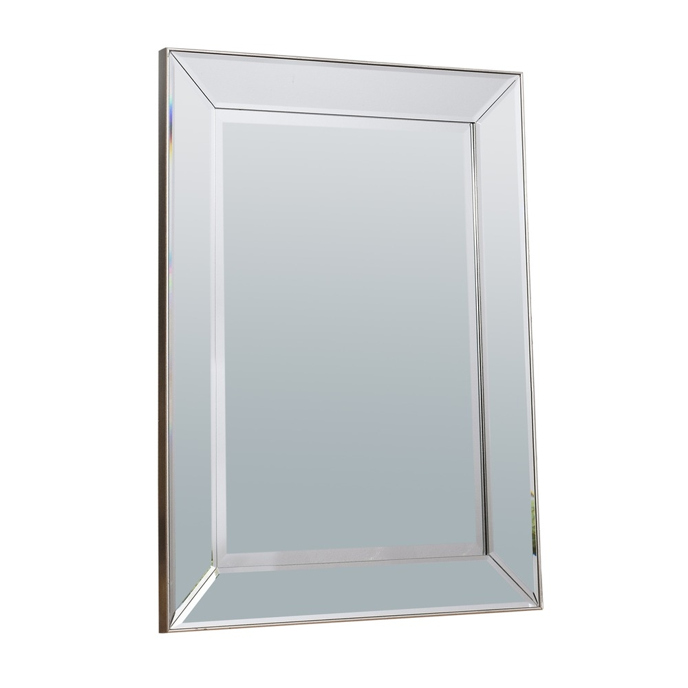 Wall Mirror Baskin Mirror Silver Select Mirrors Intended For Rectangular Silver Mirror (Image 15 of 15)