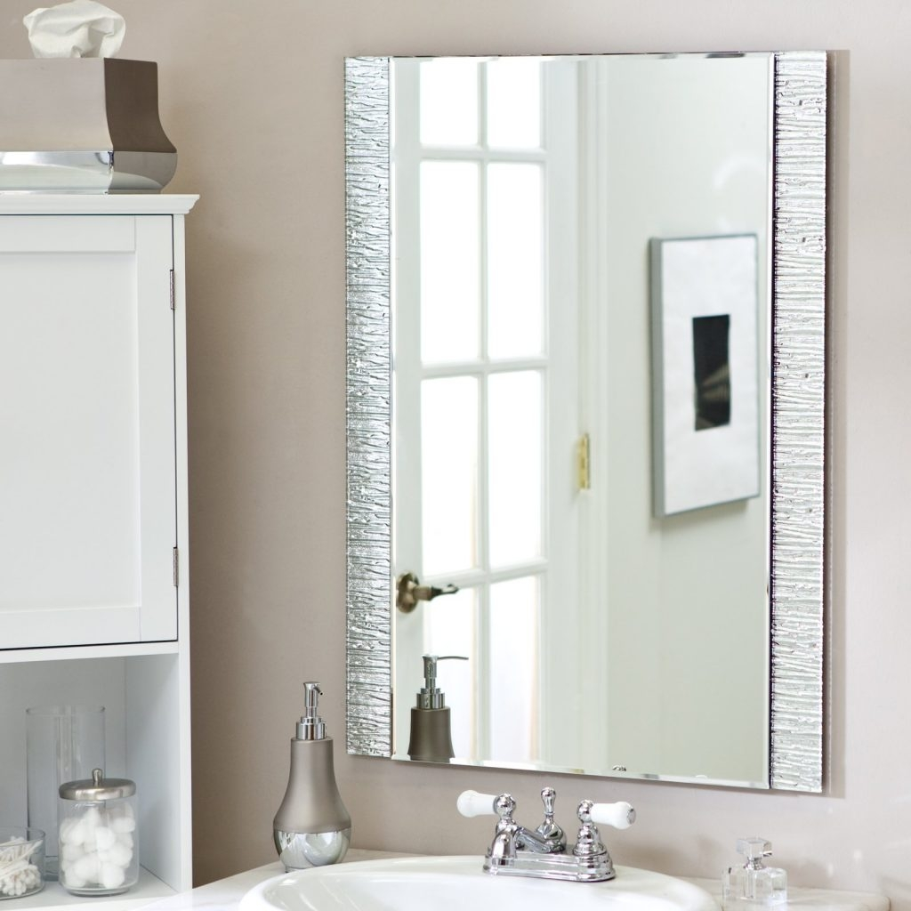 Wall Mirror No Frame Harpsoundsco Pertaining To Wall Mirror No Frame (Image 15 of 15)