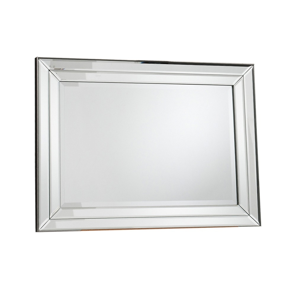 Wall Mirror Roswell Rectangle Mirror Select Mirrors Pertaining To Double Bevelled Mirror (View 6 of 15)
