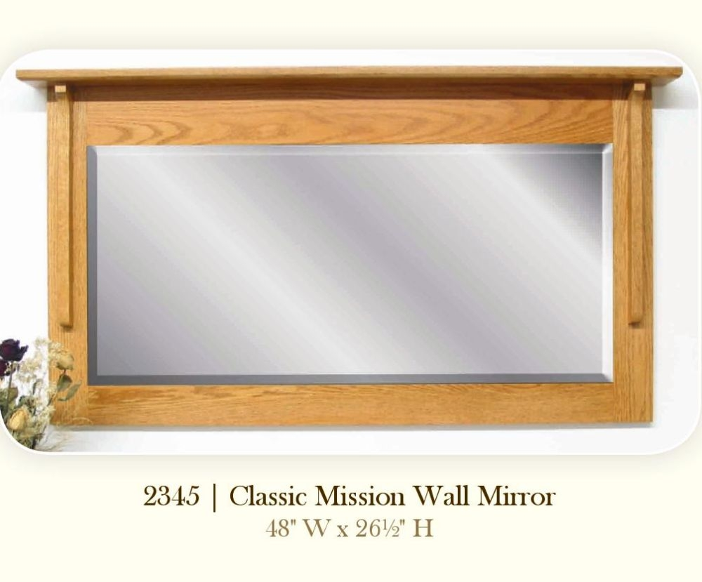 Wall Mirrors Amish Oak Furniture Mattress Company Ohio Throughout Oak Wall Mirrors (Image 12 of 15)