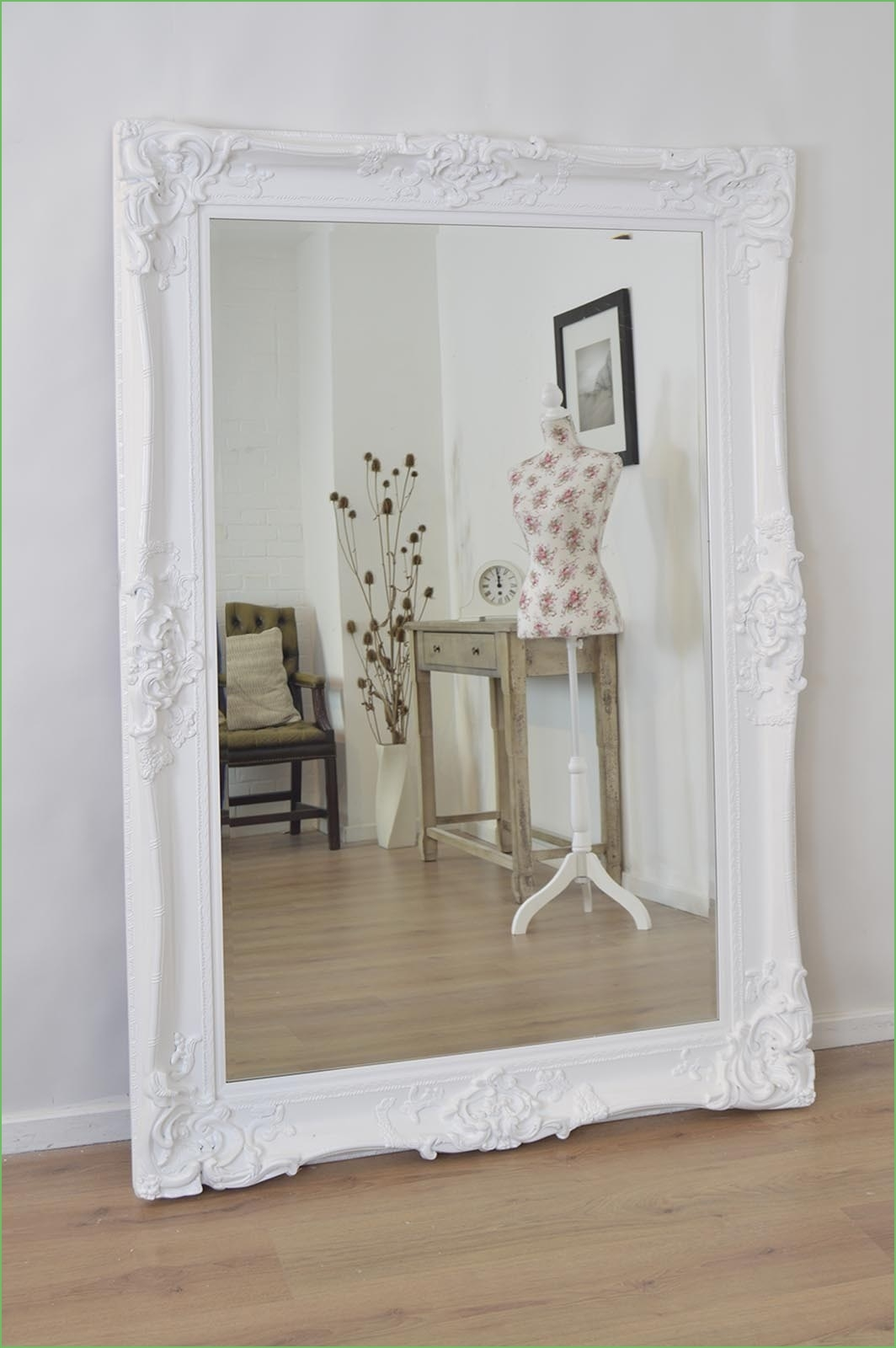 Wall Mirrors Ornate Wall Mirror Ornate Wall Mirror Black In Large Shabby Chic Mirror (Image 15 of 15)