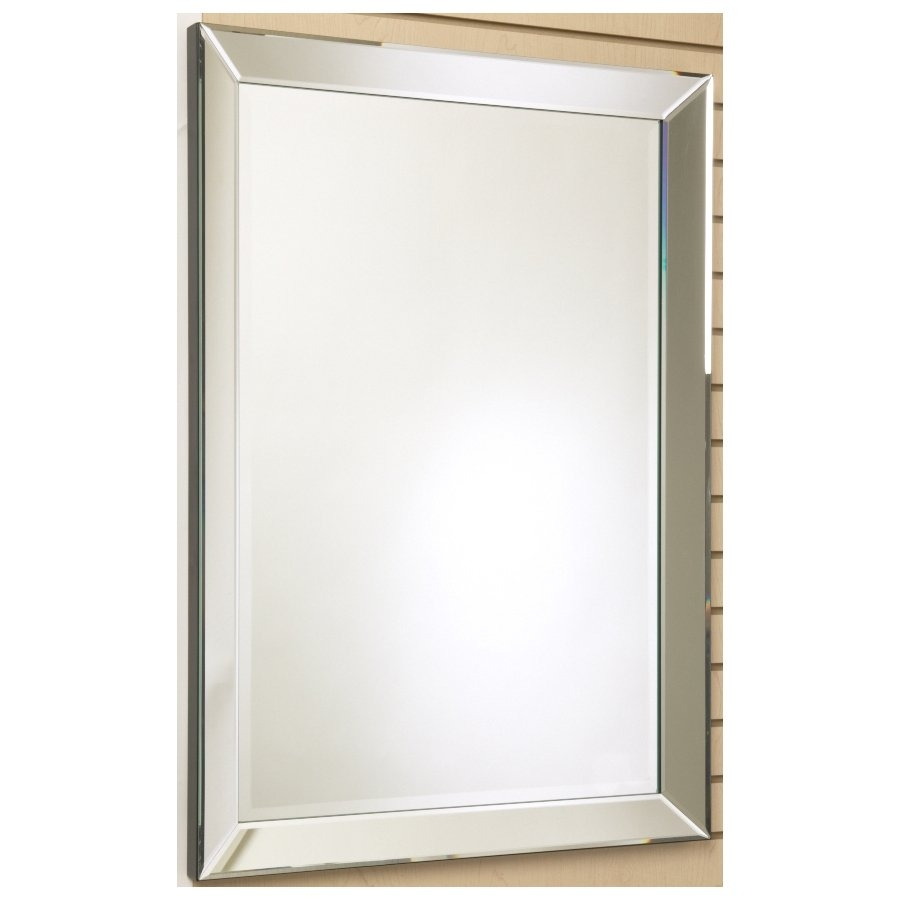Wall Mirrors Round Oval Square More Lowes Canada Inside Chrome Framed Mirror (Image 15 of 15)