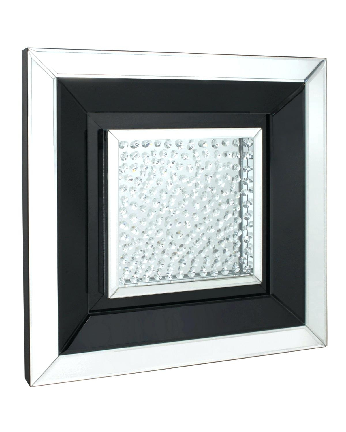 Wall Mounted Mirror 1 Piece Magnetic Sheet 10 A Square Mirrors Regarding Glitzy Mirrors (Image 14 of 15)