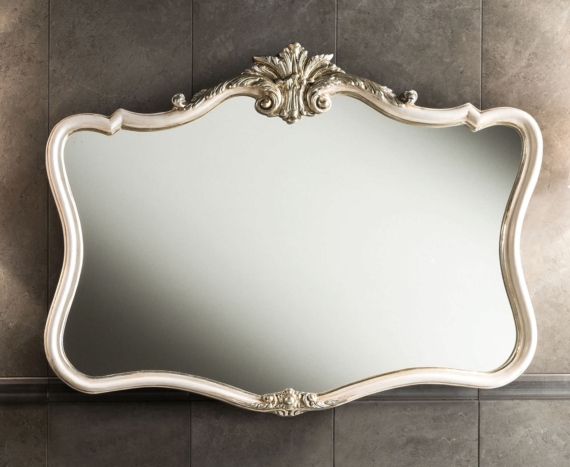 Wall Mounted Mirror New Baroque Design Barocco Mirror 92x70cm Inside Baroque Mirrors (Image 15 of 15)