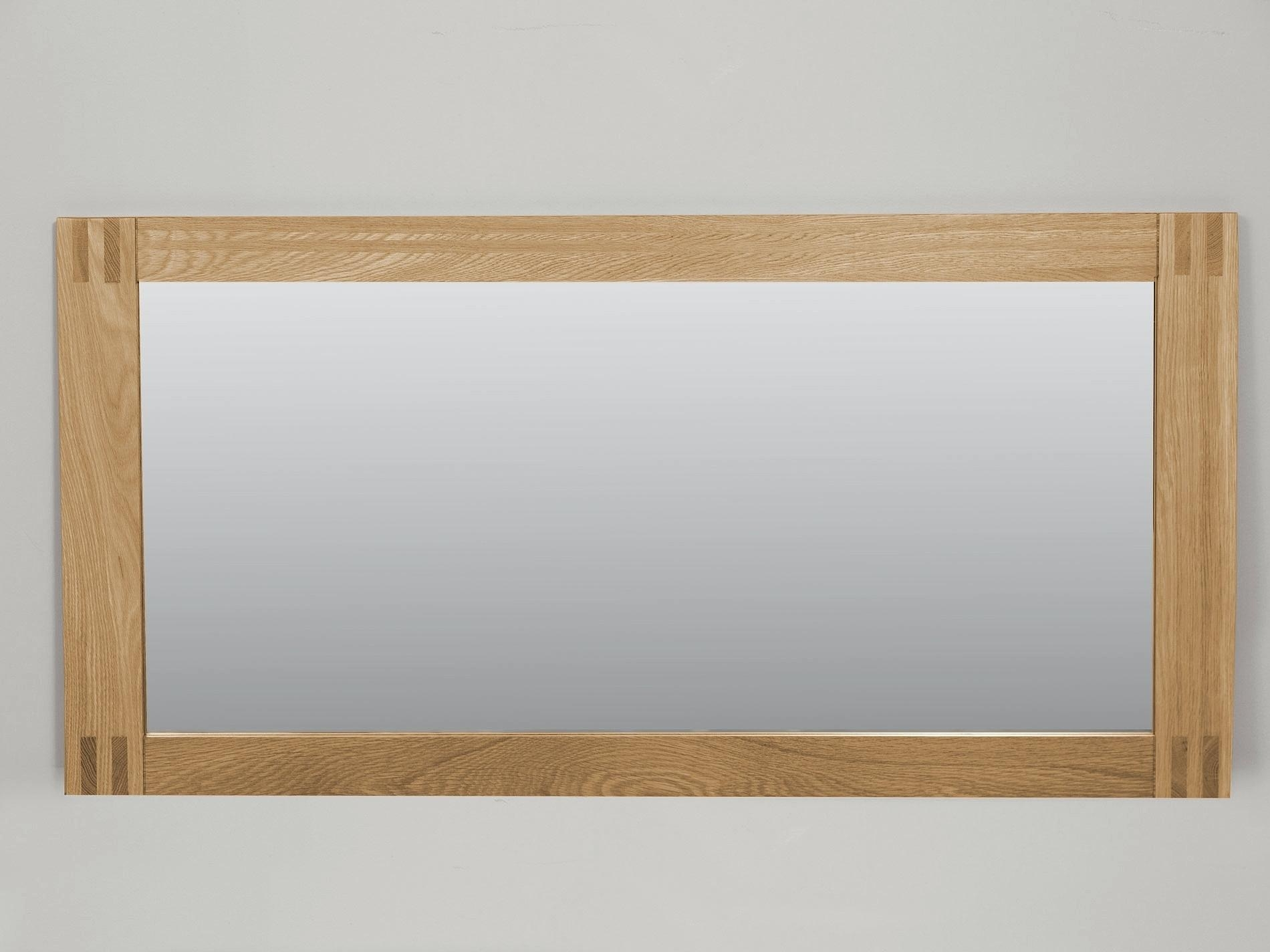 Walloak Framed Full Length Wall Mirror Oak Shopwiz In Rustic Oak Framed Mirrors (Image 14 of 15)