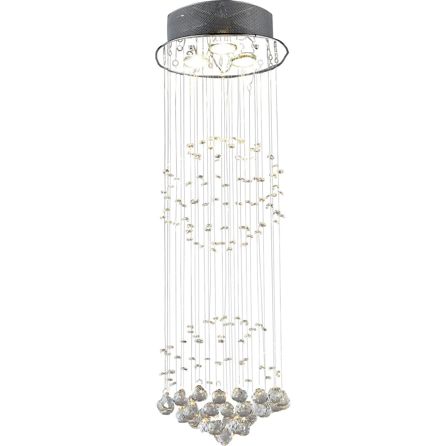 Warehouse Of Tiffany Shower 3 Light Crystal Chandelier Reviews In 3 Tier Crystal Chandelier (Image 15 of 15)