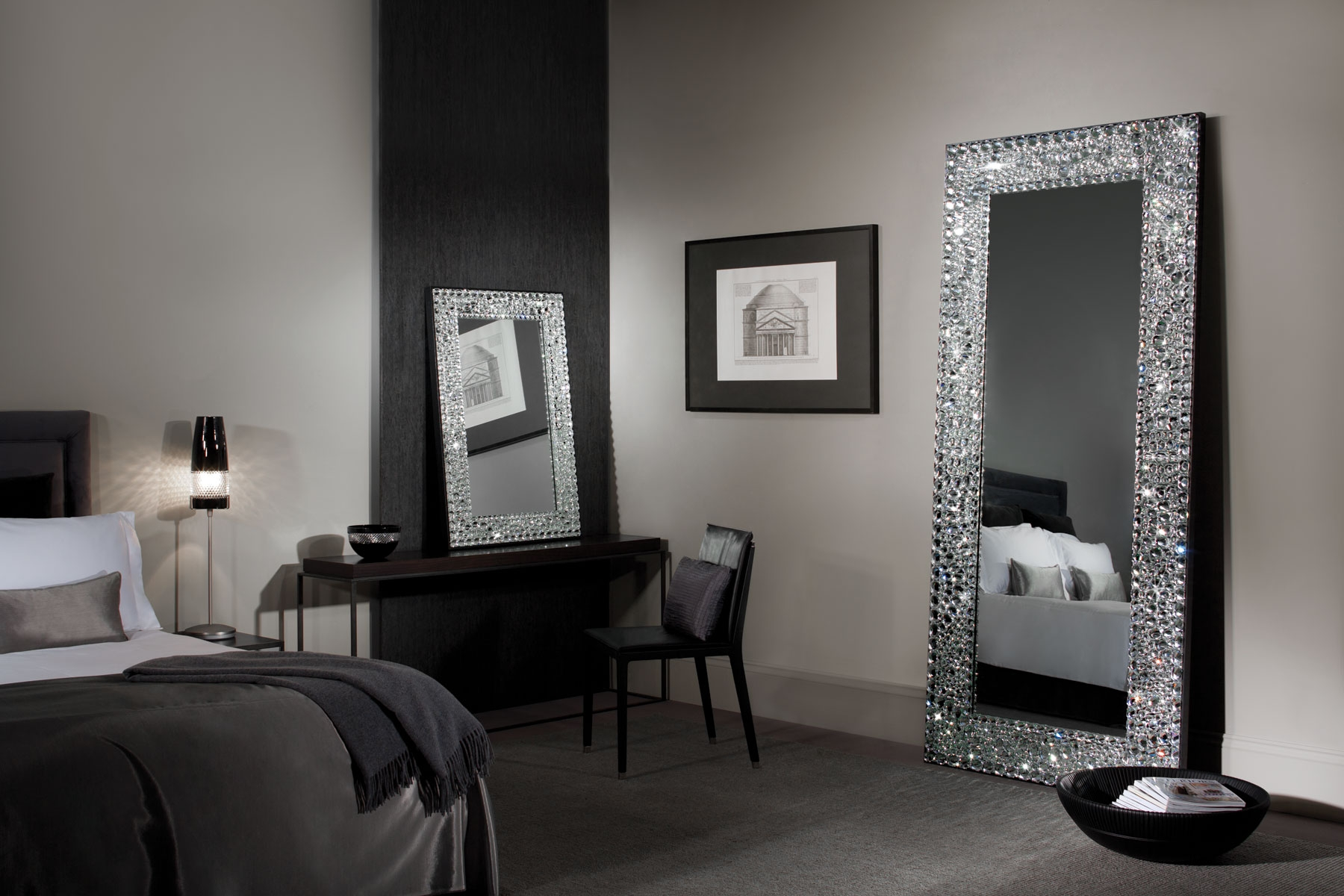 Waterford Interiors John Rocha Solas Floor Mirror With Regard To Wall Mirror With Crystals (Image 15 of 15)