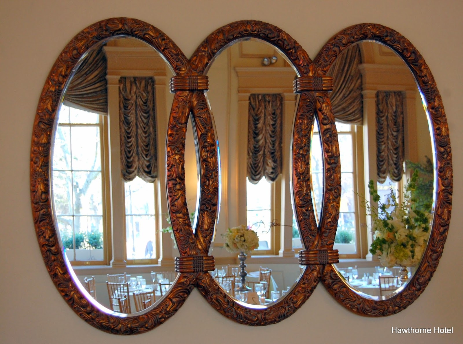 Weddings At The Hawthorne Hotel March 2014 With Regard To Triple Oval Wall Mirror (Image 15 of 15)