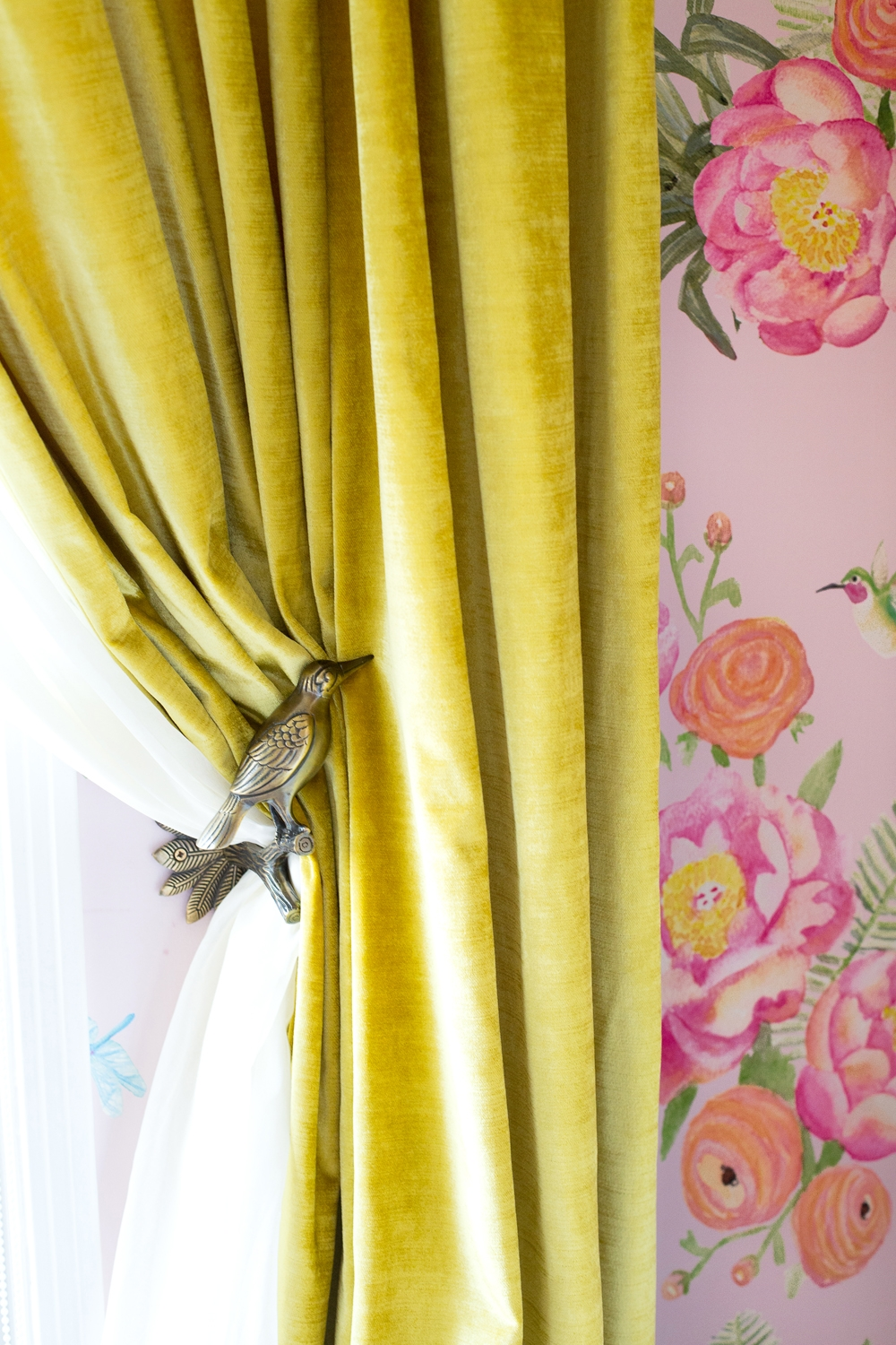 West Hollywood Glam Nursery Ginny Macdonald With Regard To Yellow Velvet Curtains (Image 15 of 15)
