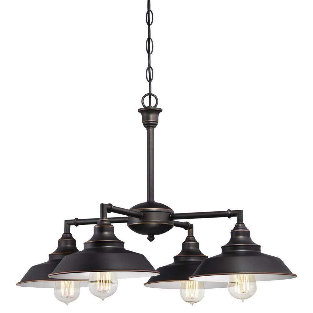 Westinghouse Iron Hill 4 Light Oil Rubbed Bronze Convertible Regarding Flush Chandelier (Image 15 of 15)