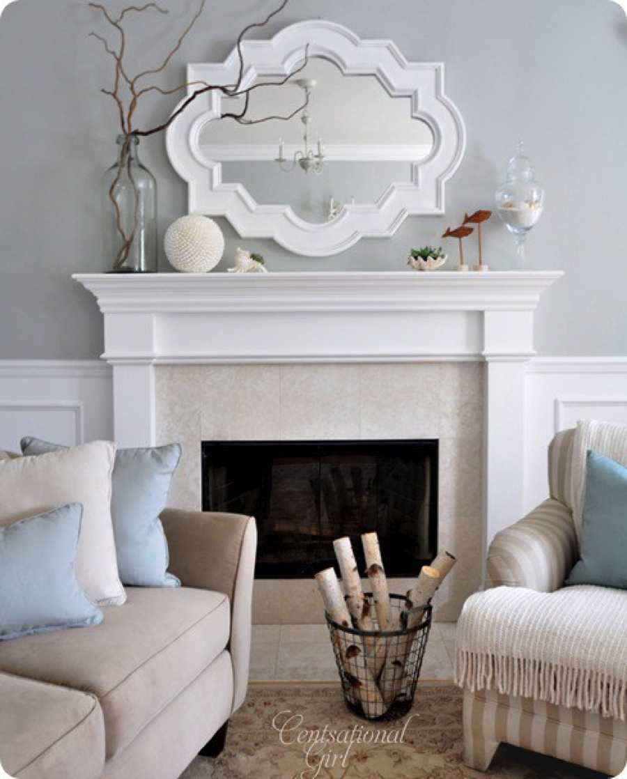 Whats On Your Mantel 5 Ways To Make Your Fireplace A Focalpoint Regarding Above Mantel Mirrors (Image 15 of 15)