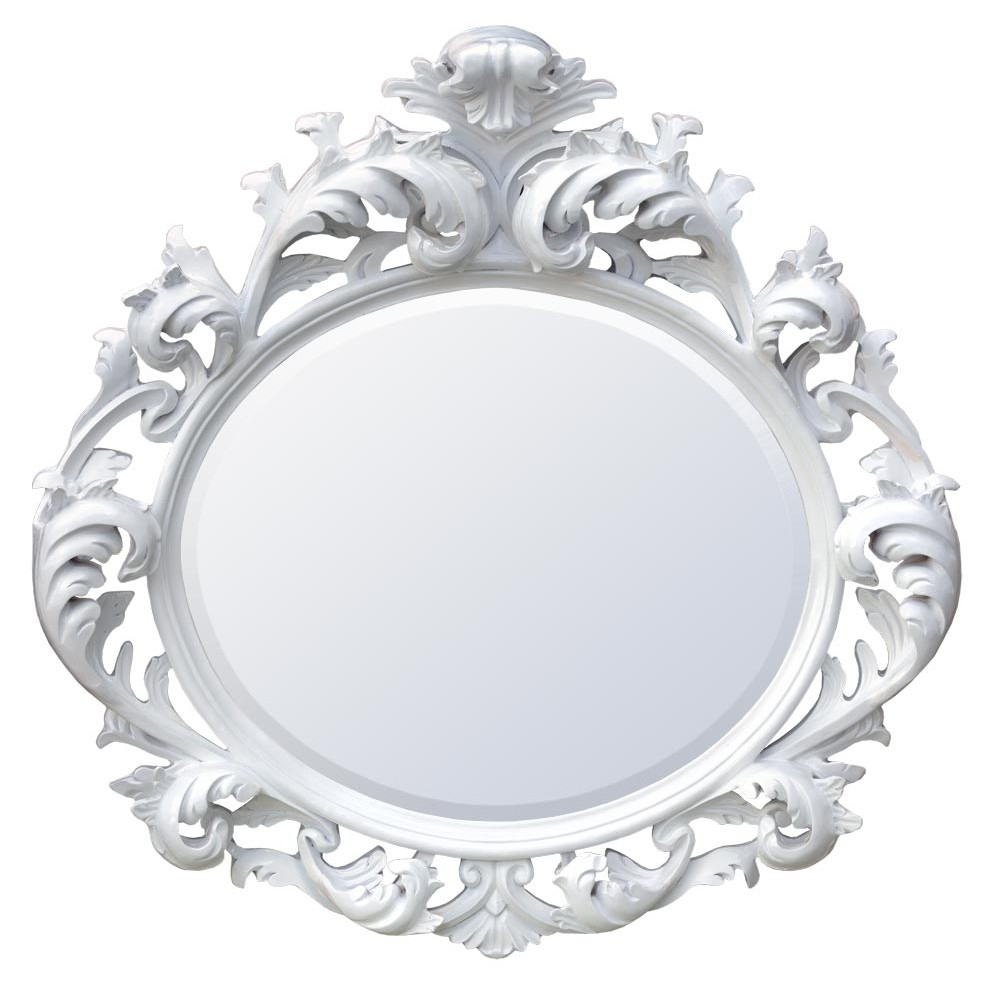 White And Cream Mirrors Intended For Baroque White Mirror (Image 12 of 15)