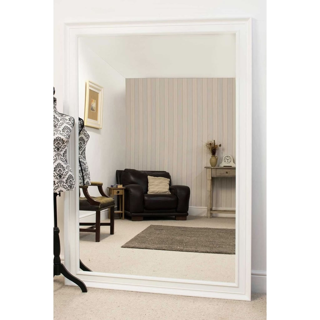 White And Cream Mirrors With Large Cream Mirror (Image 15 of 15)