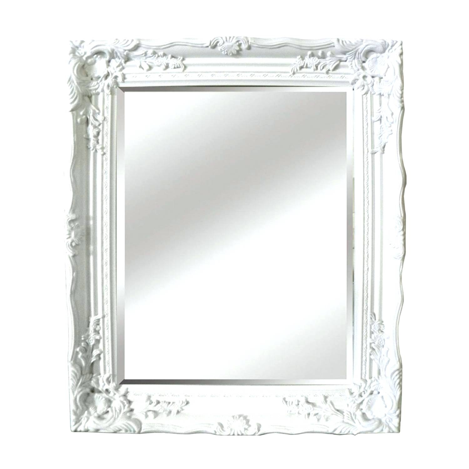 White Antique Mirror Pitchloveco Regarding Ornate White Mirror (Image 11 of 15)