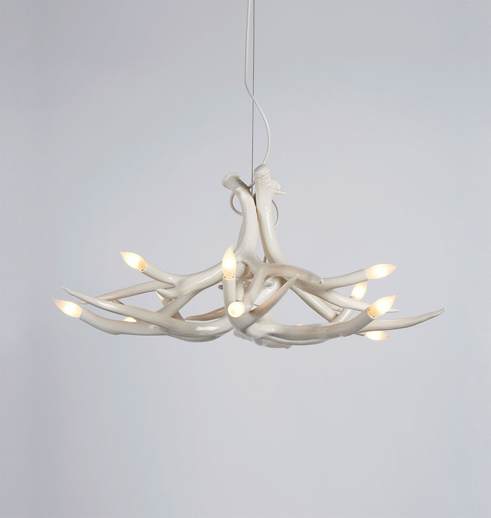 White Antler Chandelier Homesfeed With White Antler Chandelier (Image 15 of 15)