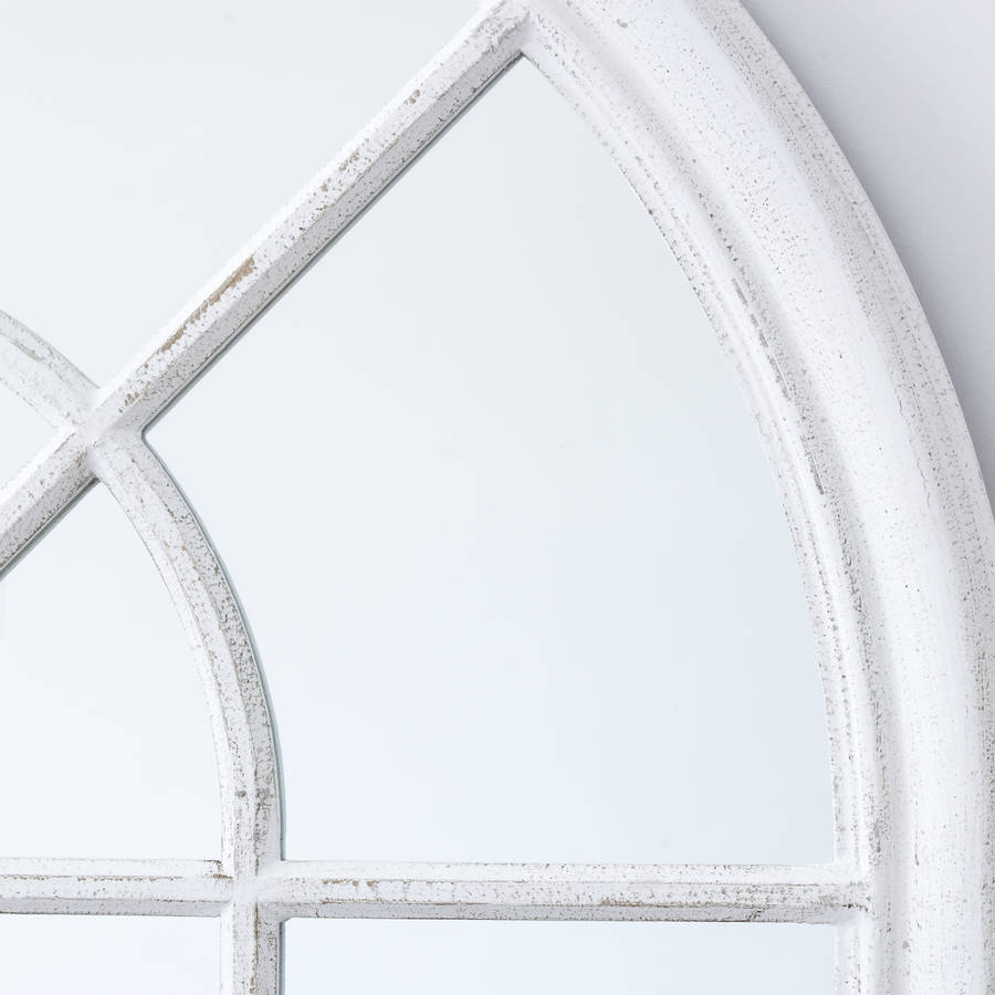 White Arched Window Mirror Primrose Plum Notonthehighstreet With White Arched Window Mirror (Image 13 of 15)