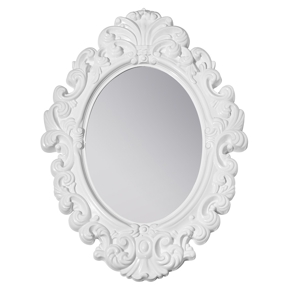 White Baroque Locker Mirror Intended For Baroque Mirror White (Image 12 of 15)