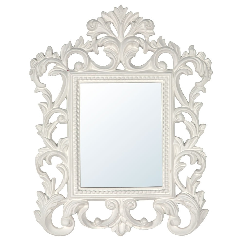 White Baroque Mirror Mirrors Furniture Lighting Wholesale In Baroque Mirror White (Image 13 of 15)