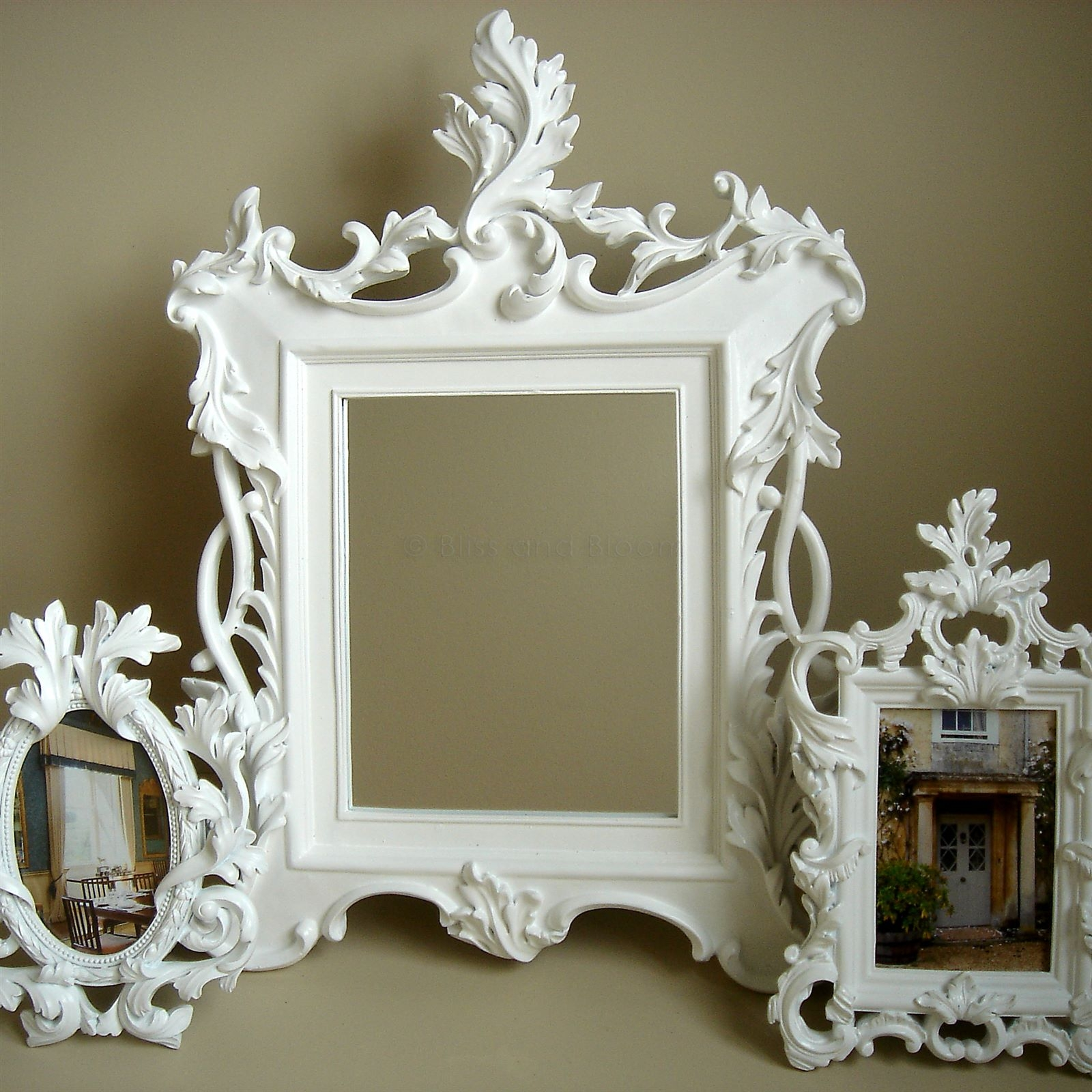 White Baroque Mirror Seconds Bliss And Bloom Ltd For White Baroque Wall Mirror (Image 12 of 15)