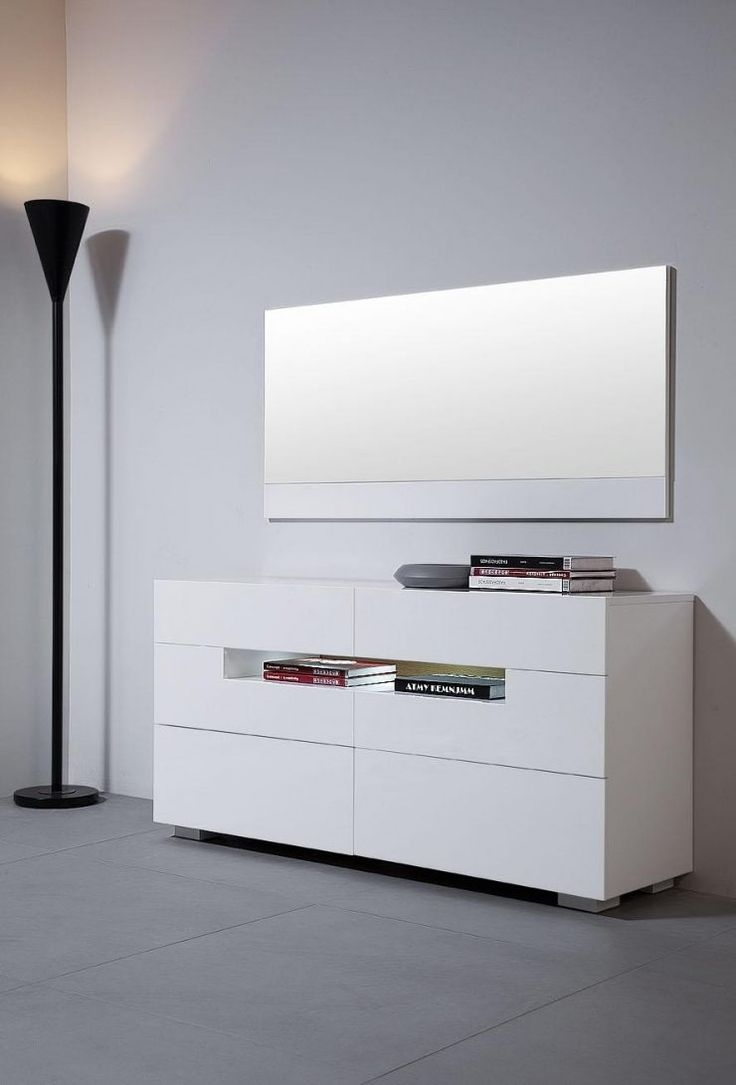 White Contemporary Dresser With Regard To Contemporary White Mirror (Image 15 of 15)