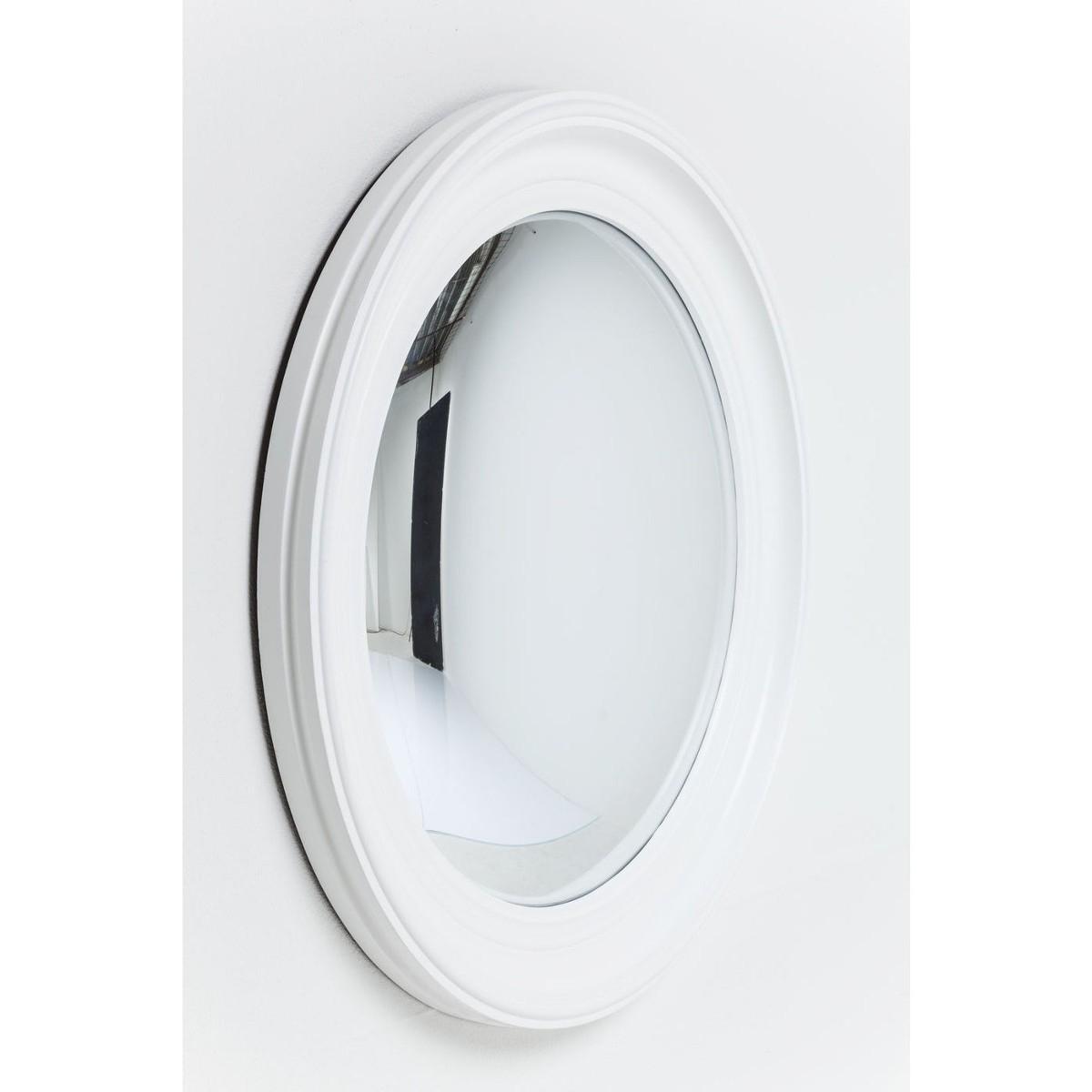 White Convex Mirror Mirrors Accessories Caseys Furniture Inside White Convex Mirror (Image 14 of 15)