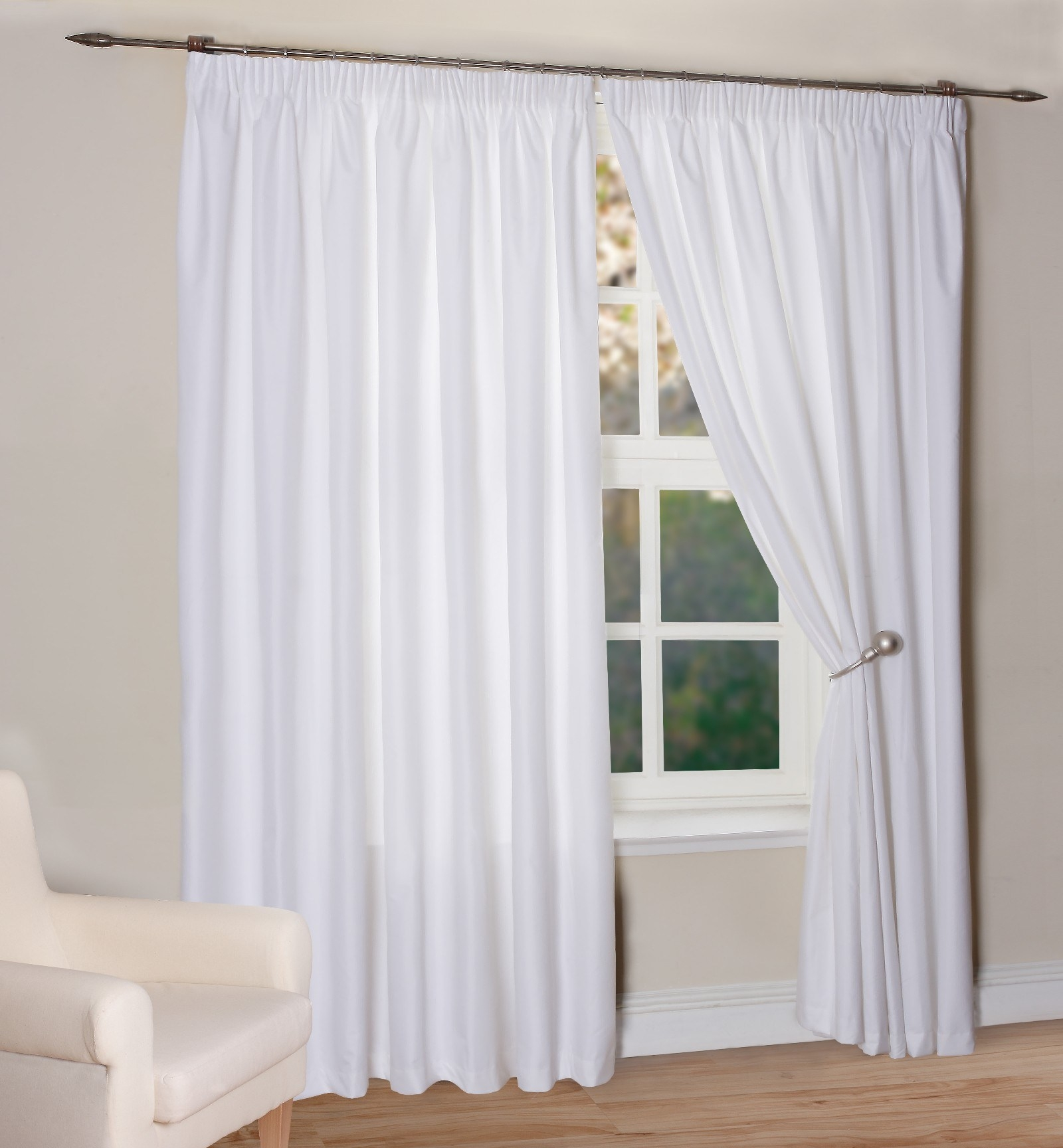White Curtains With Blackout Lining Inside White Curtains With Blackout Lining (Image 14 of 15)
