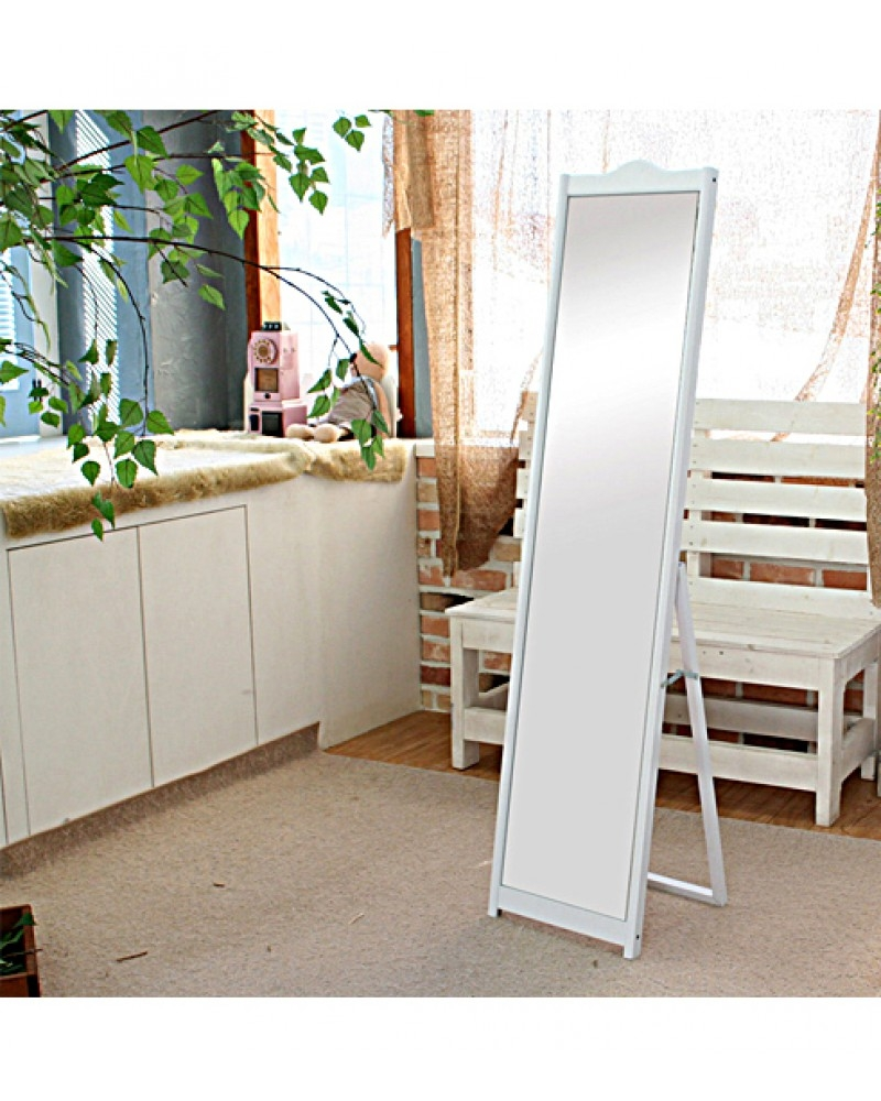 White Elegant Freestanding Dressing Mirror Regarding Dress Mirrors Free Standing (Image 15 of 15)