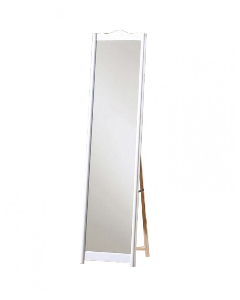 White Elegant Freestanding Dressing Mirror Throughout Buy Free Standing Mirror (Image 15 of 15)