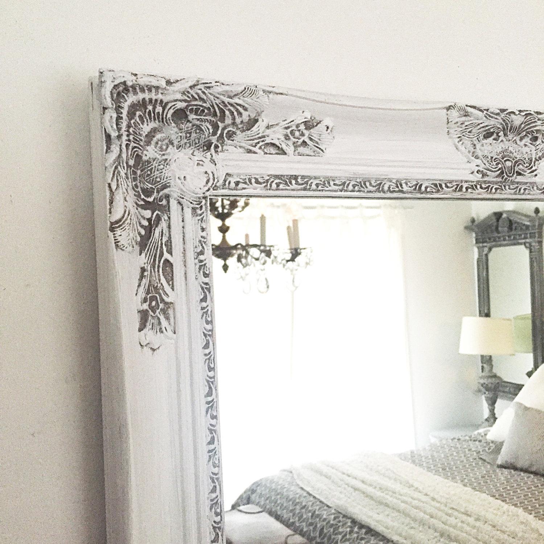 White Frame Etsy With Regard To Large White Ornate Mirror (View 11 of 15)