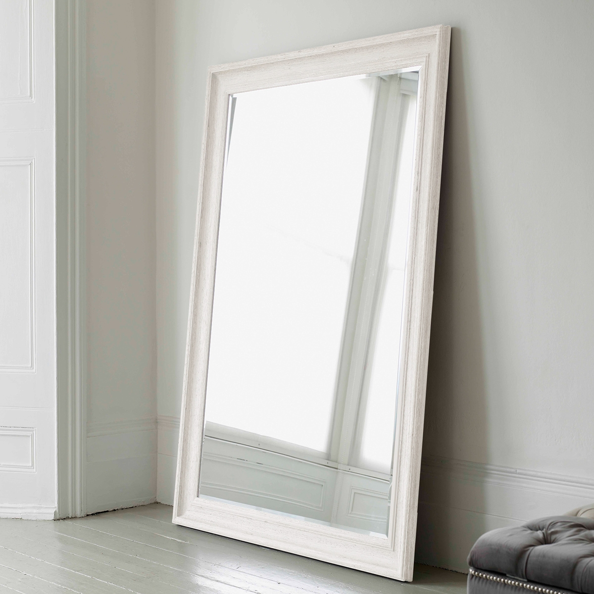 White Full Length Wall Mirror Full Image For Big Modern Mirror For Large White Floor Mirror (Image 15 of 15)