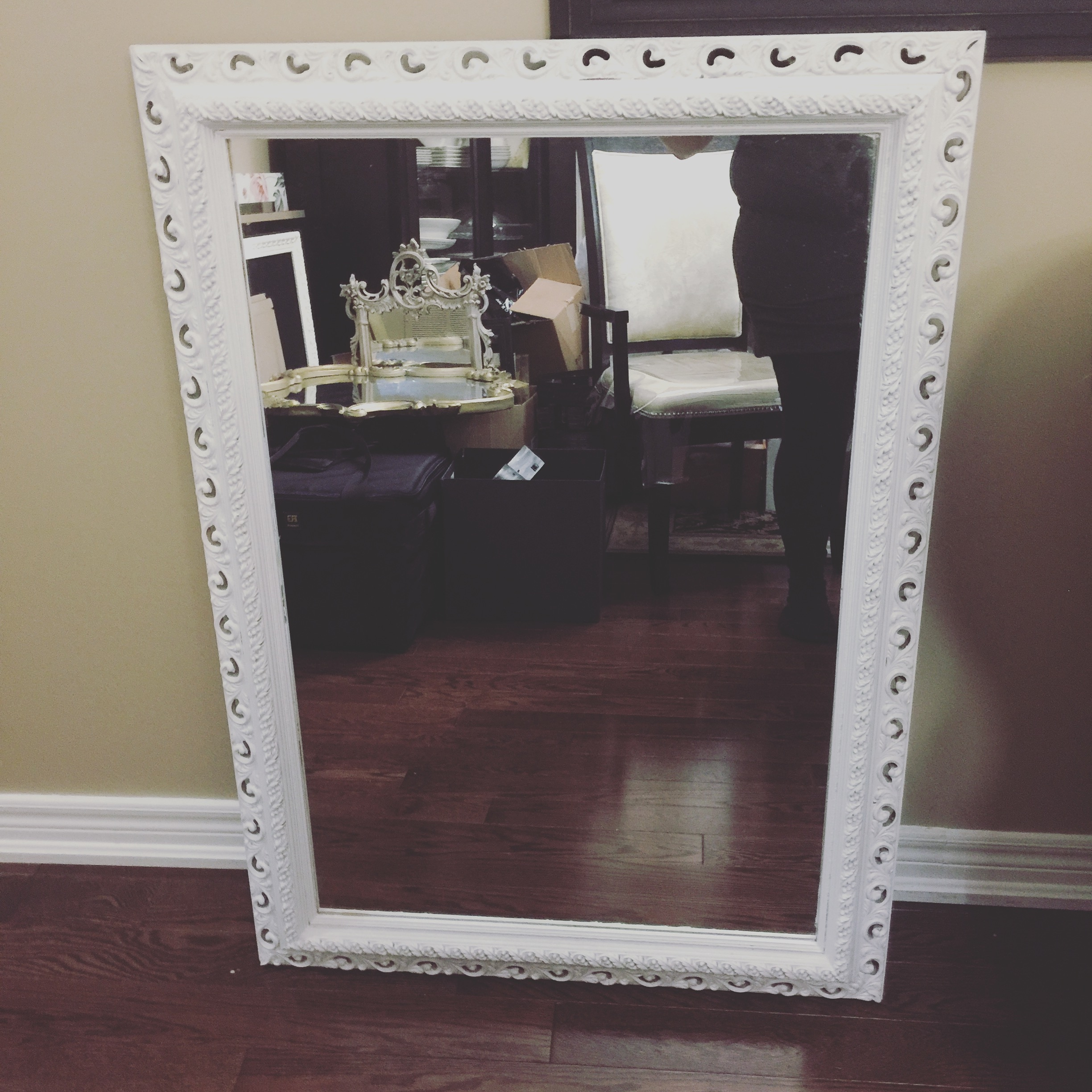 White Large Shab Chic Mirror Seating Chart Vintagebash For Large White Shabby Chic Mirror (Image 15 of 15)