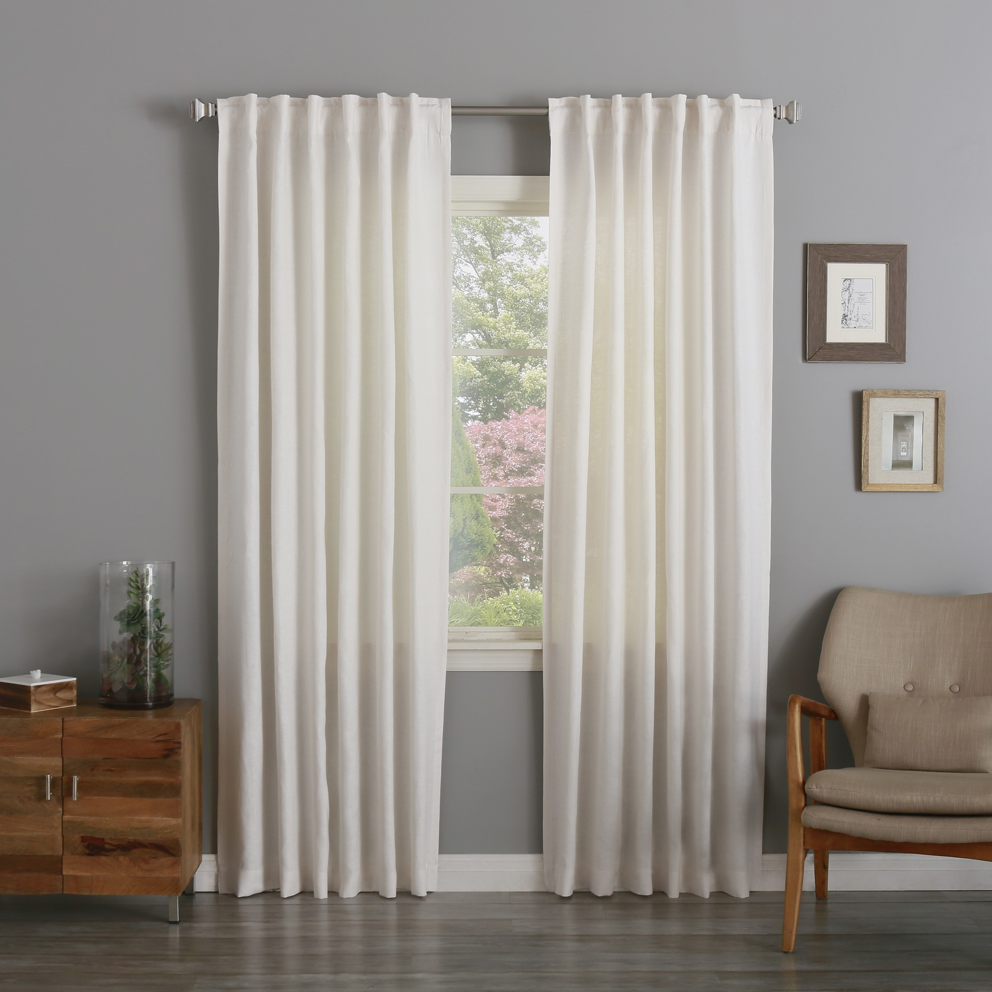 White Linen Curtains For Clean Looking House Teresasdesk Intended For Textured Linen Curtains (Image 15 of 15)